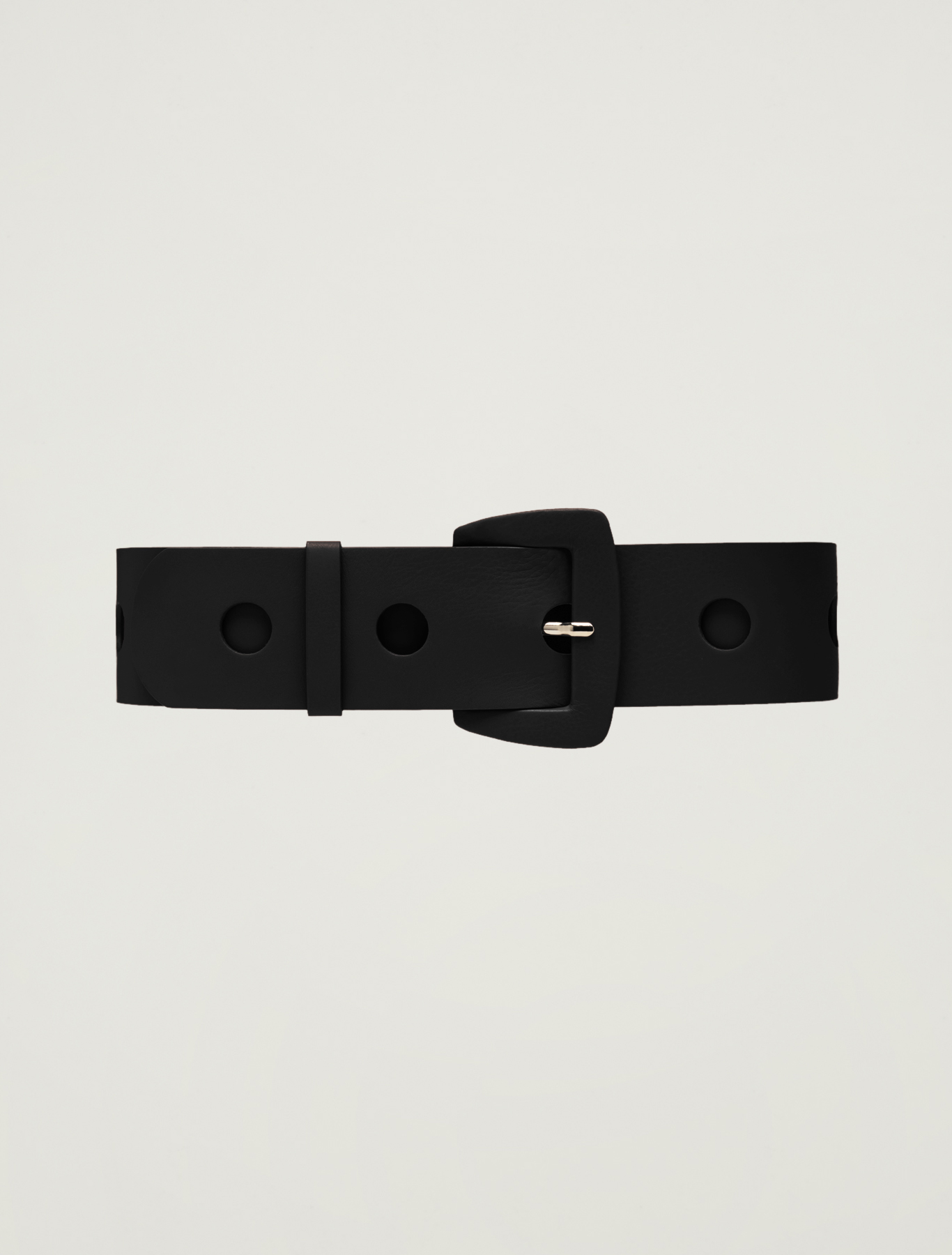Waist belt with circular inlays - black - pennyblack
