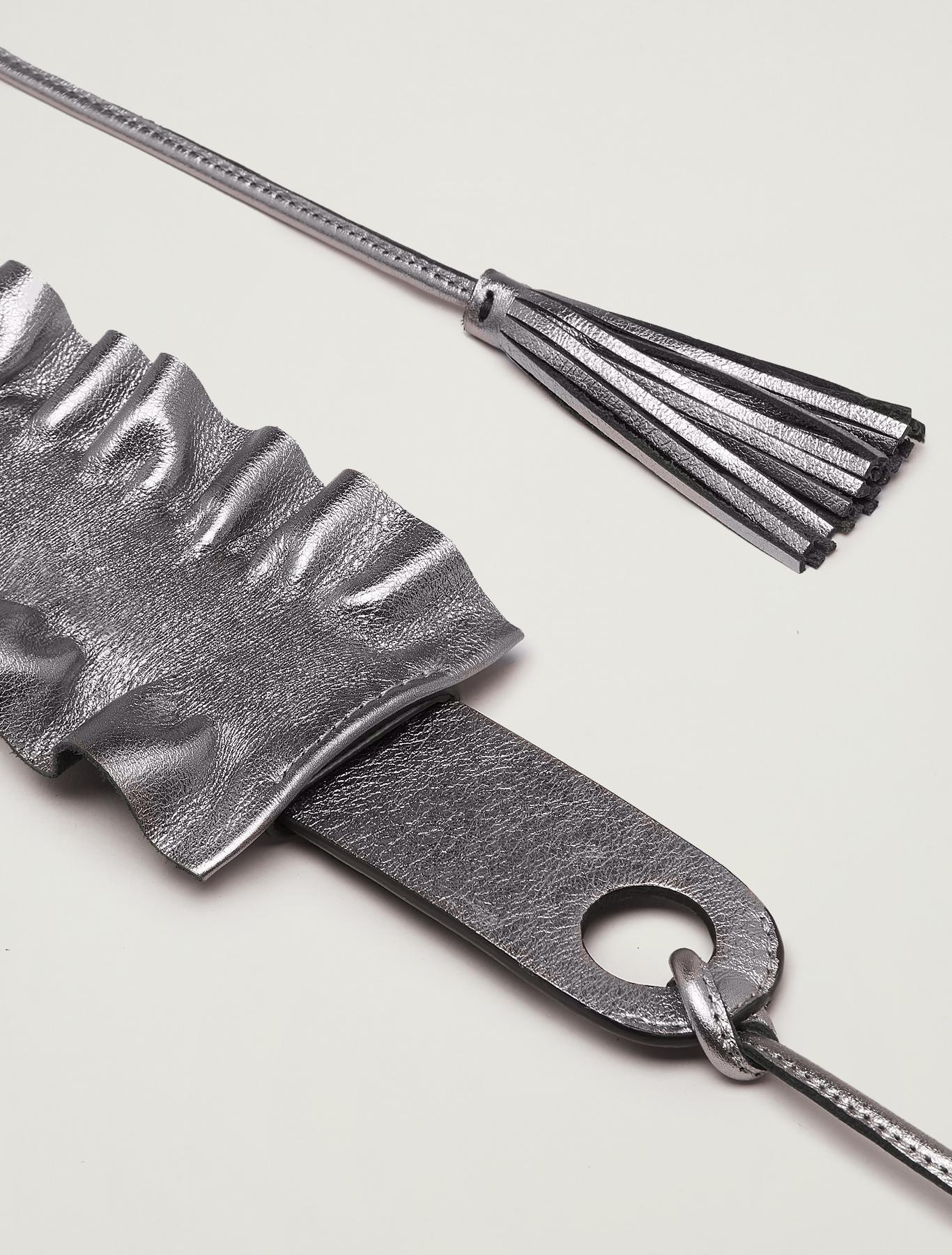 Belt with detachable ruffle - dark grey - pennyblack