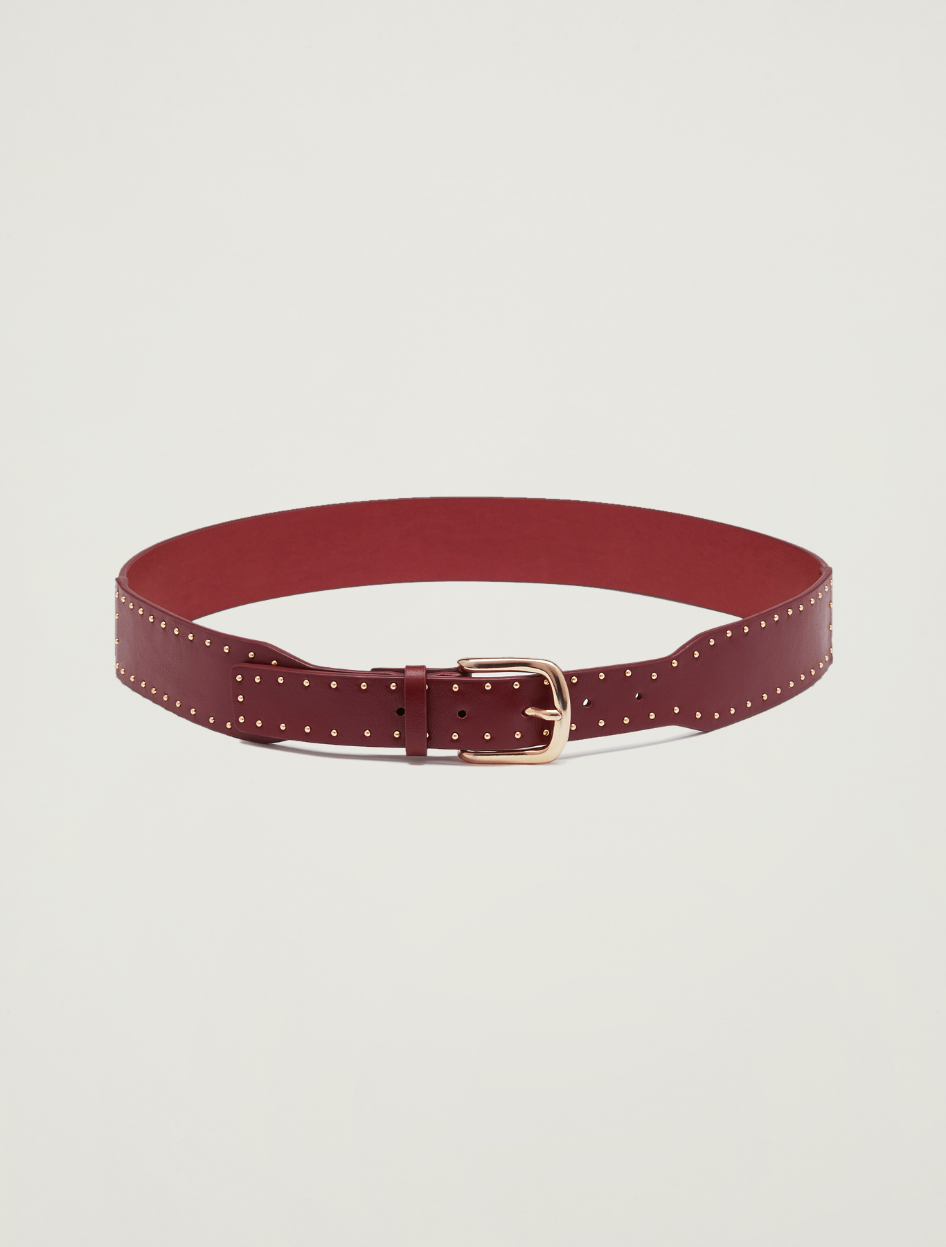 Belt with micro studs - red - pennyblack