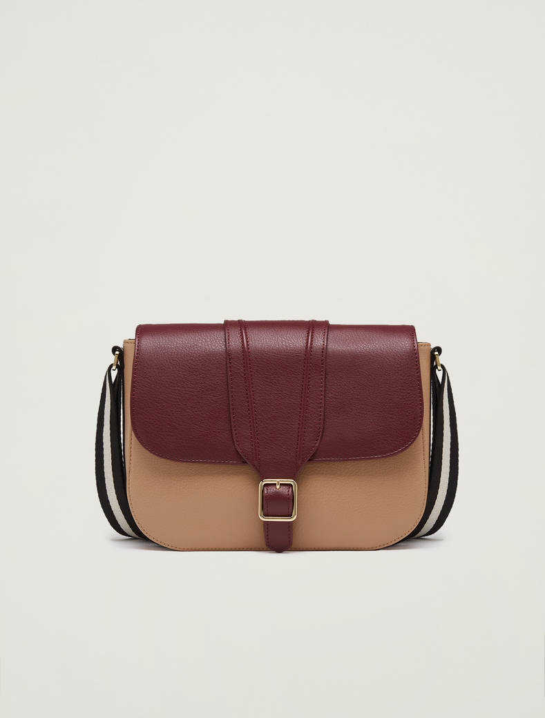 Messenger bag con nastro a righe - bordeaux - pennyblack