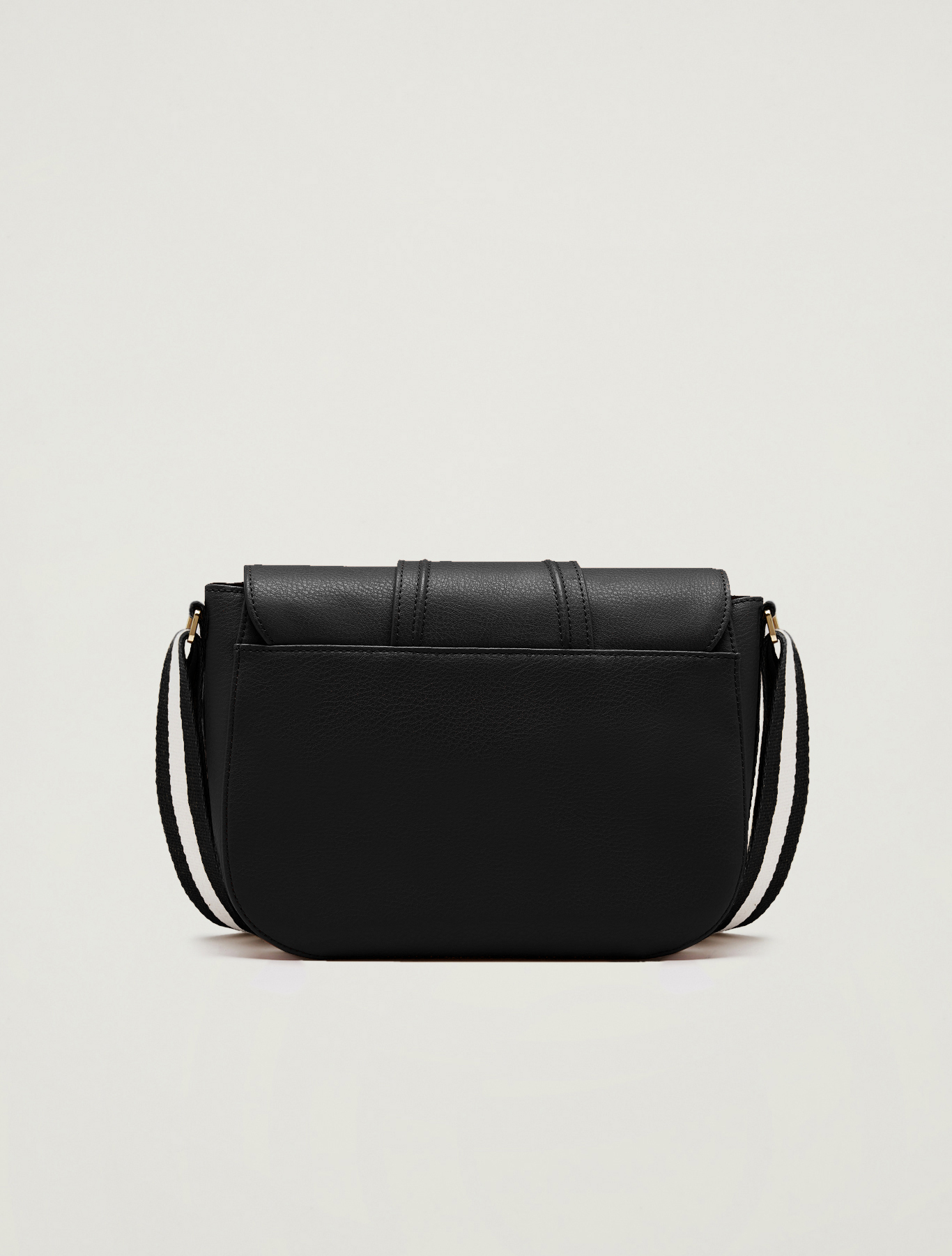 Messenger bag with striped ribbon - black - pennyblack