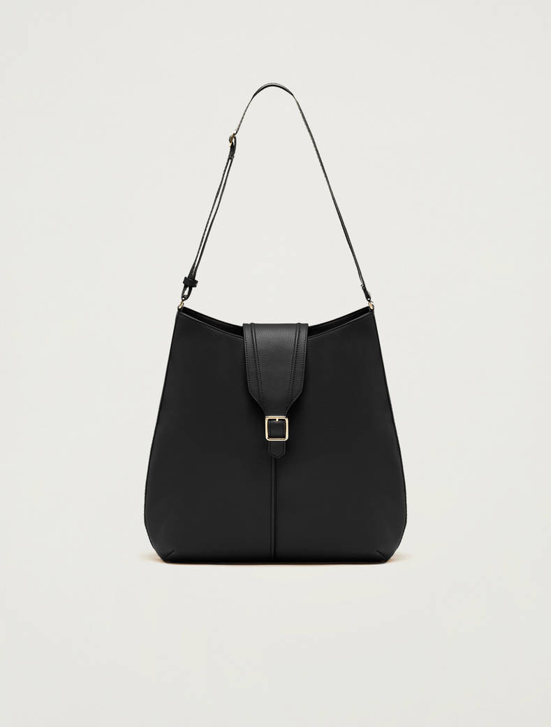 Hobo bag con nastro a righe - nero - pennyblack