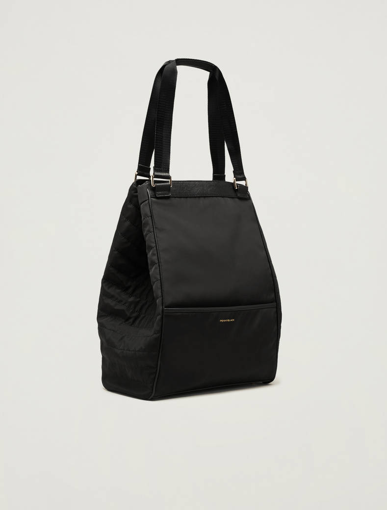 Shopper bag in technical fabric - black - pennyblack