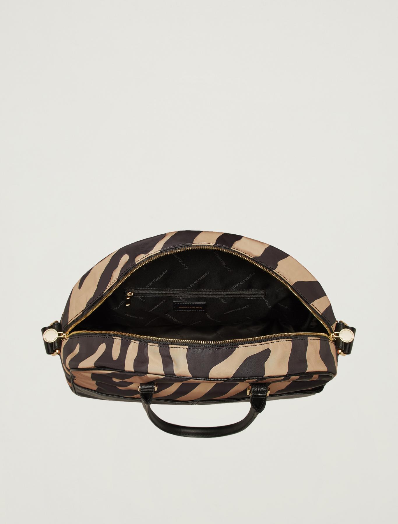Printed bowling bag - beige - pennyblack