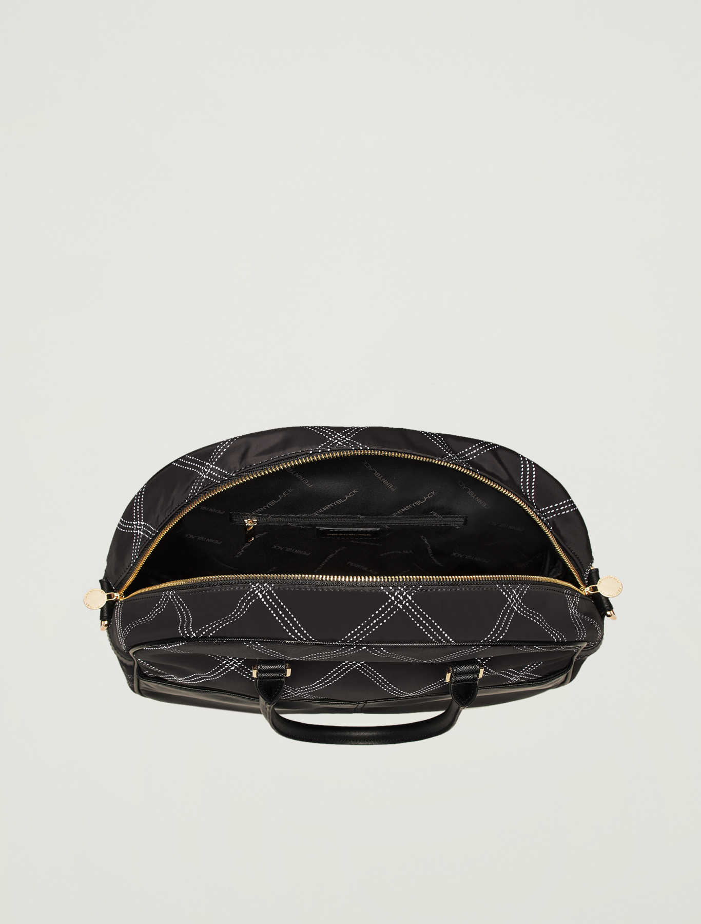 Bowling bag stampata - nero - pennyblack