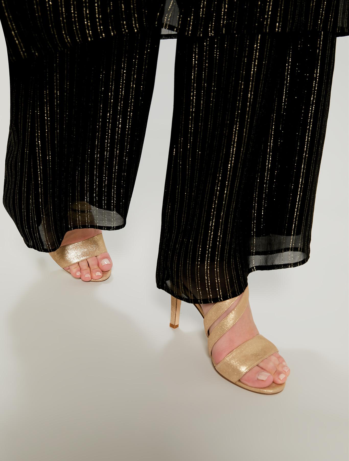 Sandali oro con fascia asimmetrica - oro - pennyblack