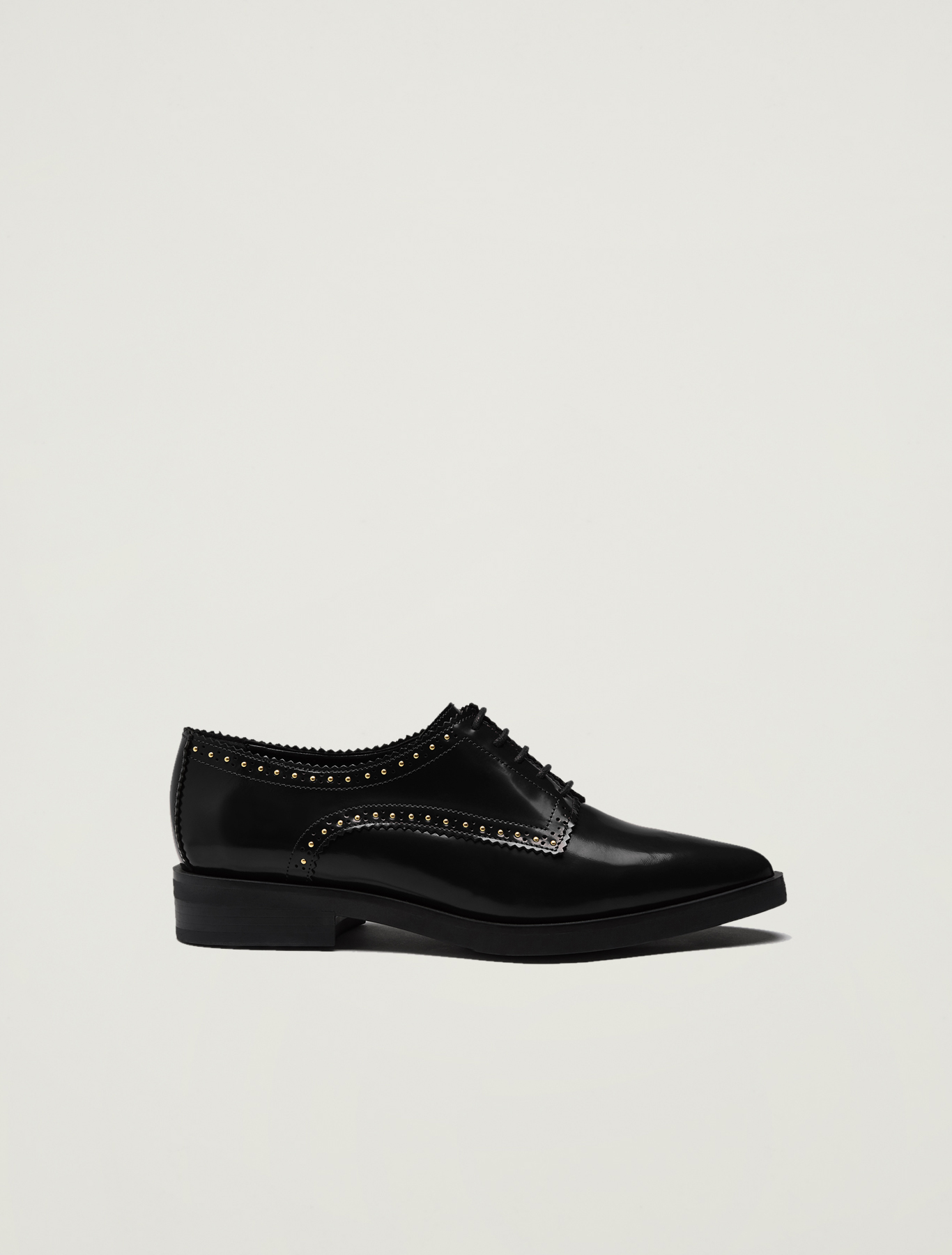 Lace-ups with micro studs - black - pennyblack