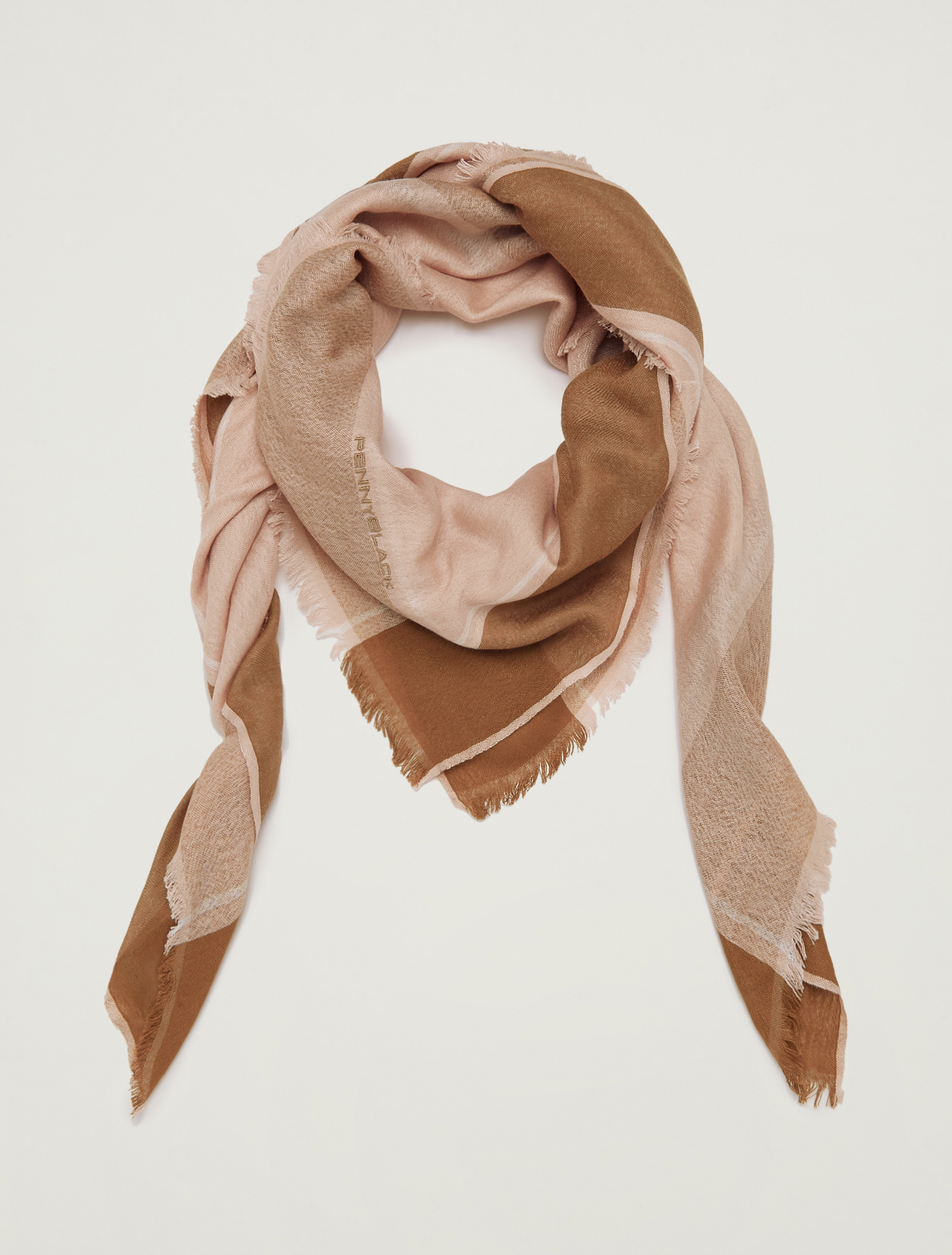 Maxi scarf with contrasting trim - old rose - pennyblack