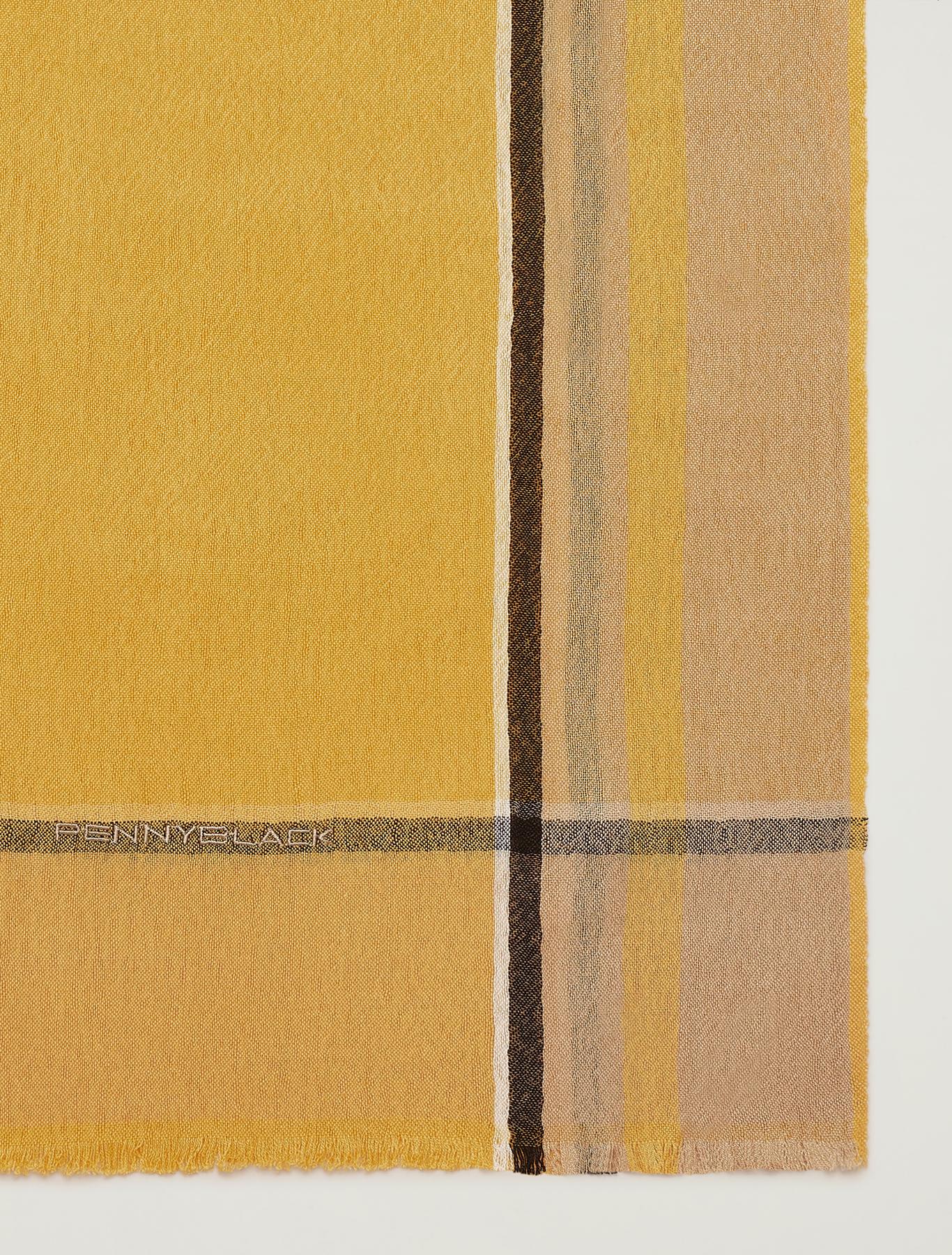 Maxi scarf with contrasting trim - orange - pennyblack