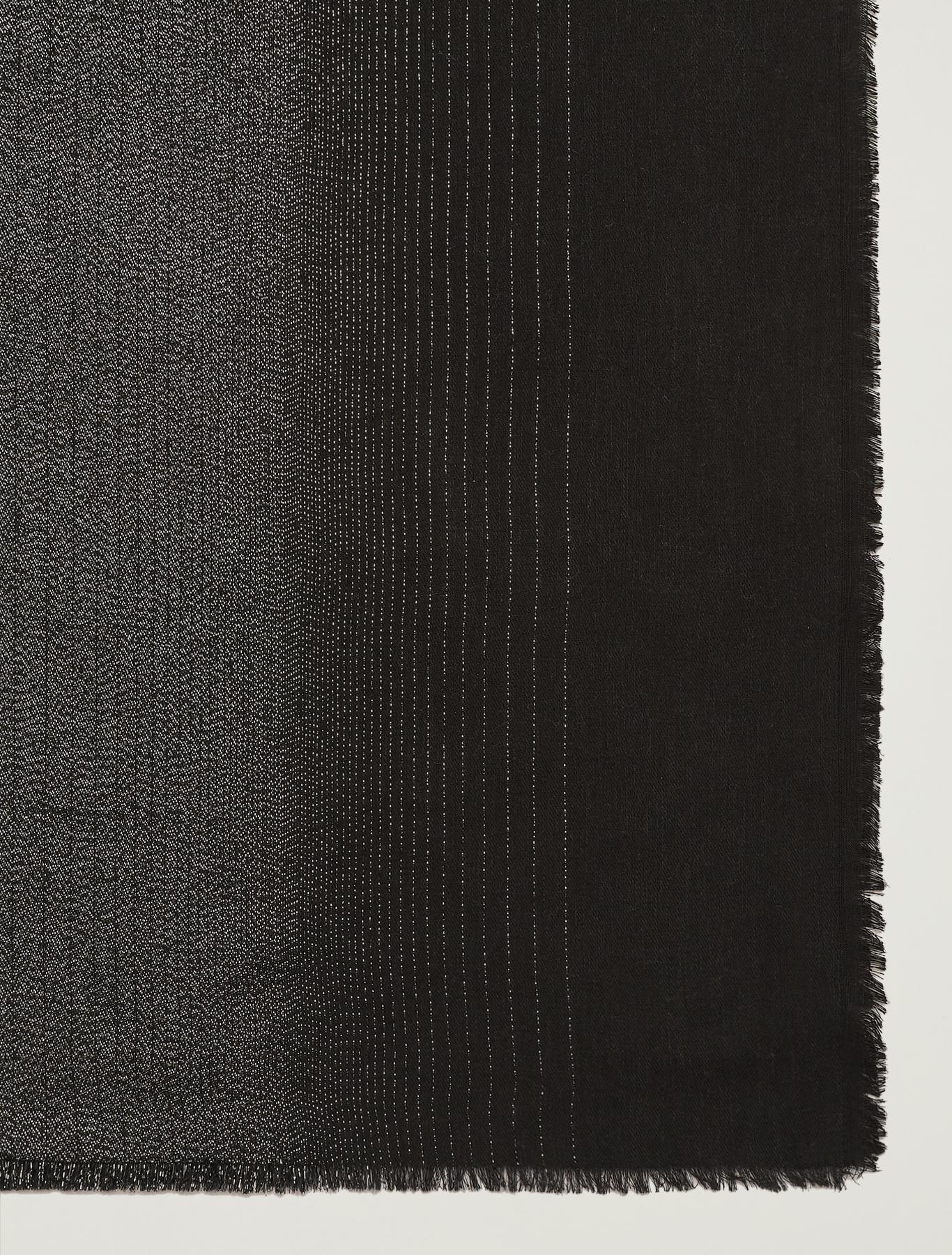 Flowing lamé scarf - black - pennyblack