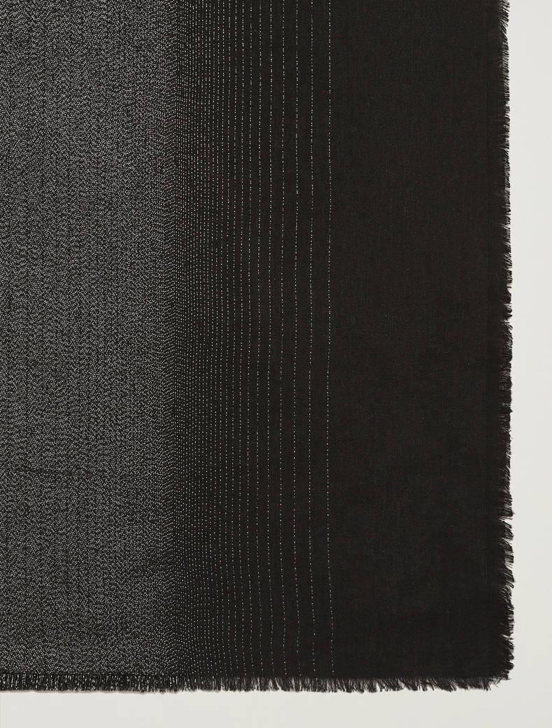 Sciarpa fluida in lamé - nero - pennyblack