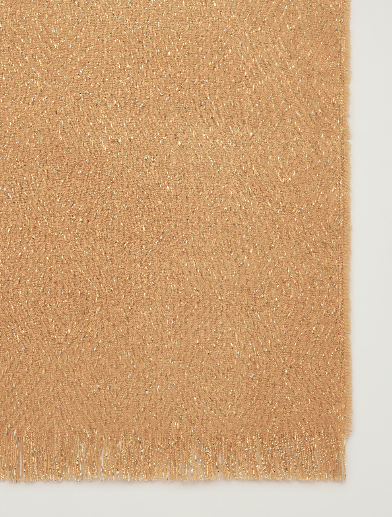 Jacquard scarf with lamé - beige - pennyblack