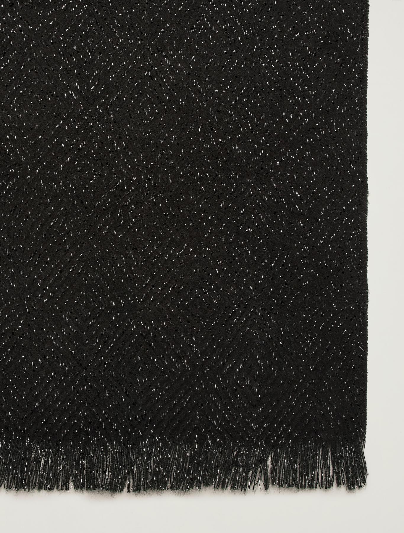 Jacquard scarf with lamé - black - pennyblack