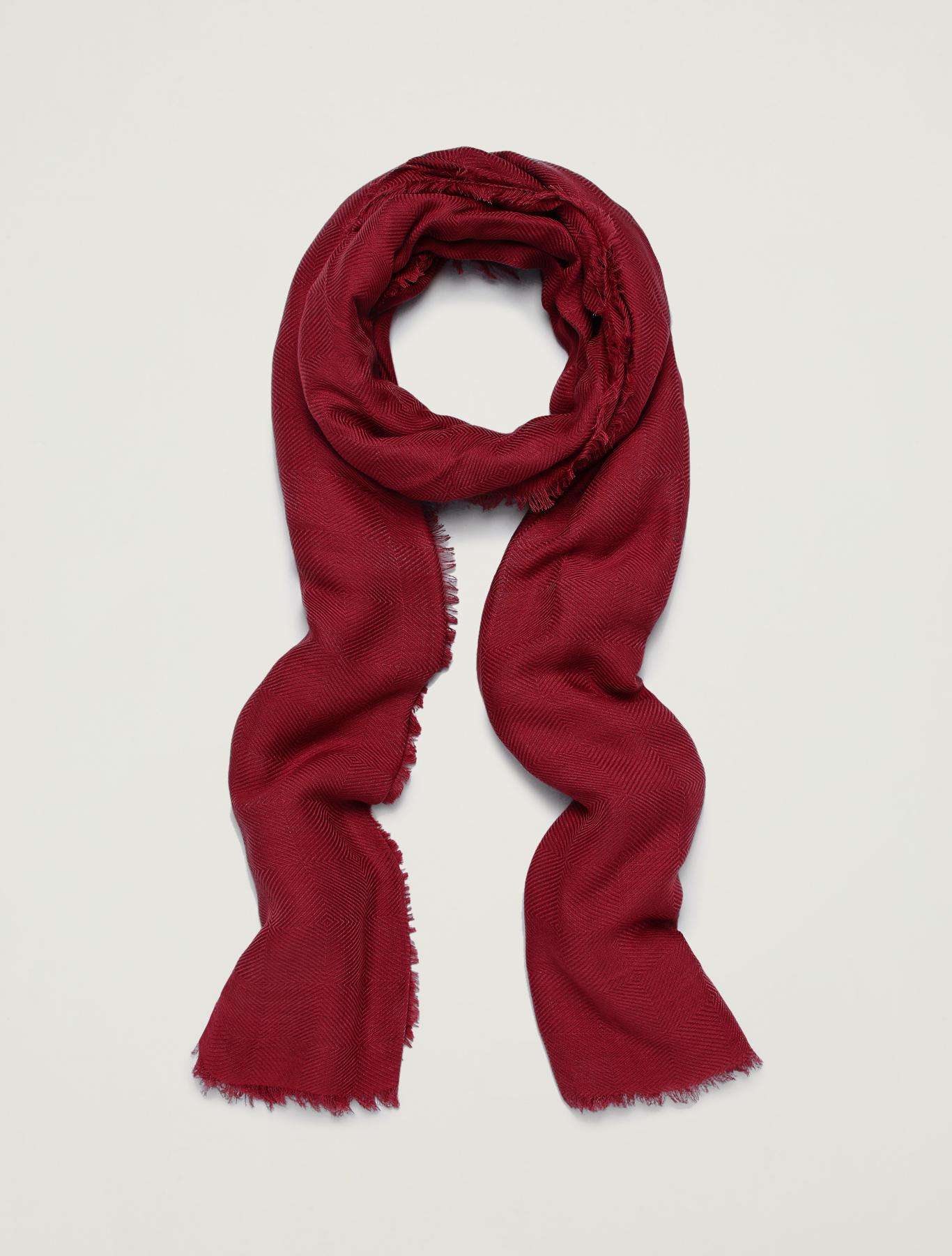 Jacquard scarf - red - pennyblack