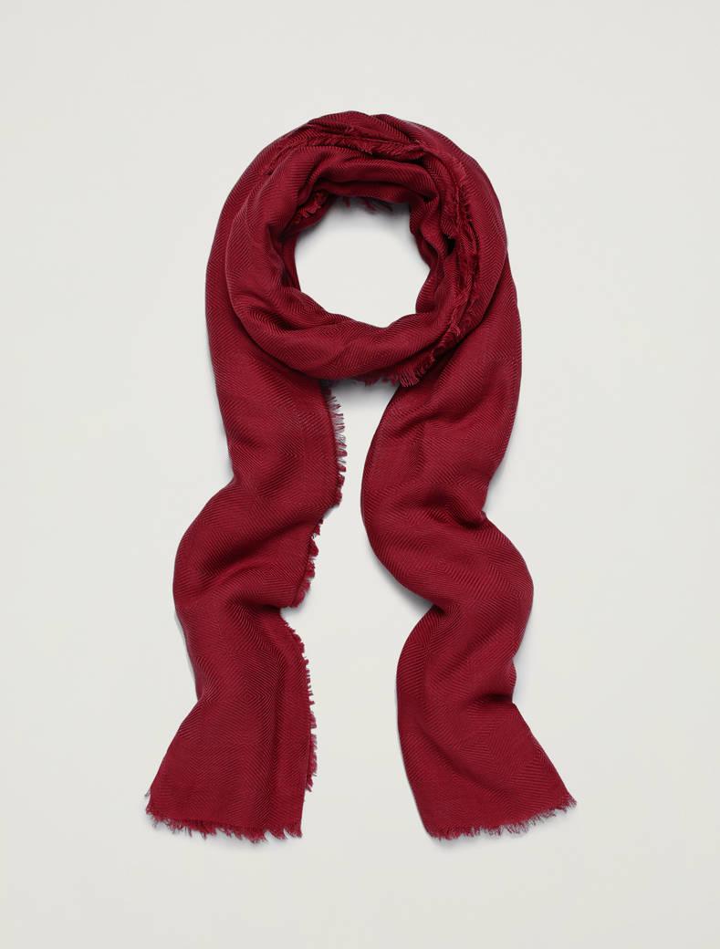 Sciarpa con texture jacquard - rosso - pennyblack