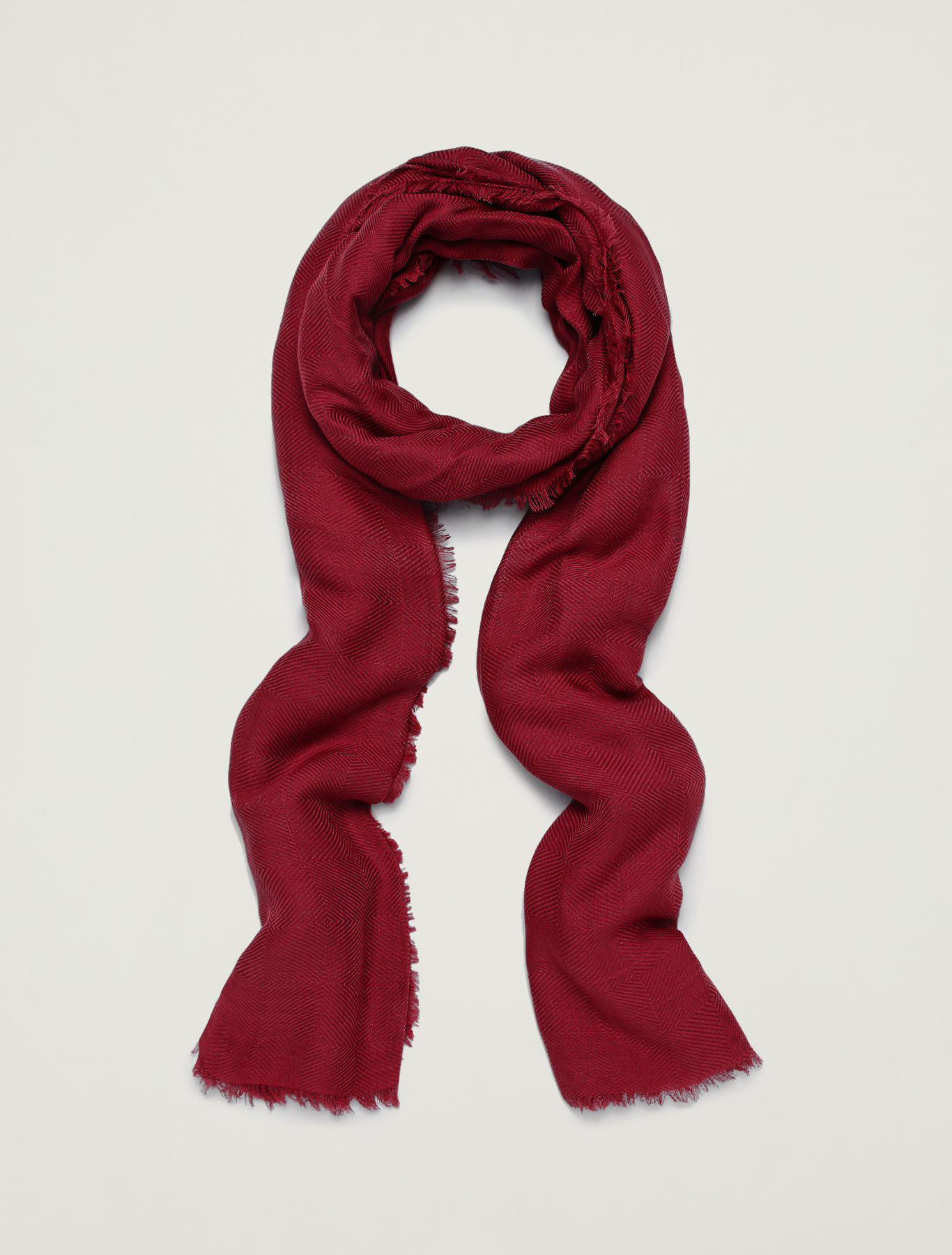Jacquard scarf - red - pennyblack