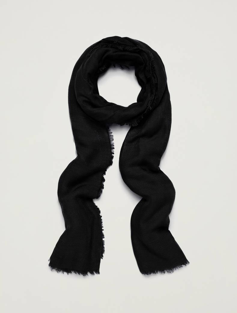 Jacquard scarf - black - pennyblack