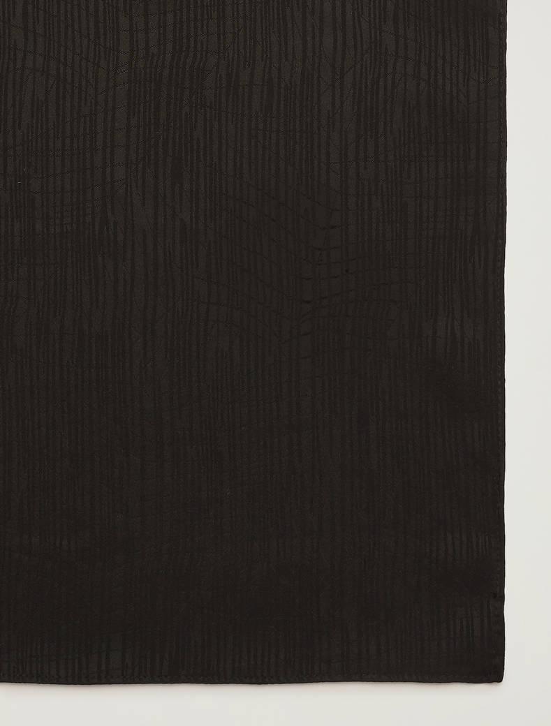 Sciarpa con texture jacquard - nero - pennyblack