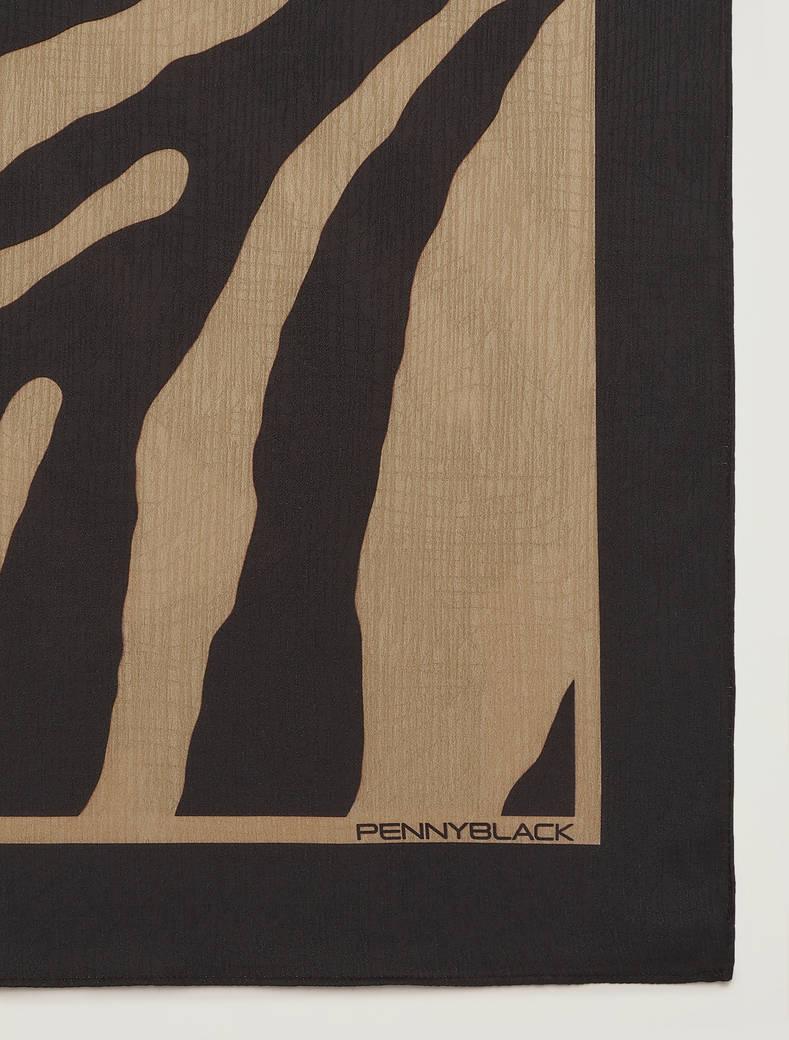 Sciarpa con texture jacquard - beige - pennyblack