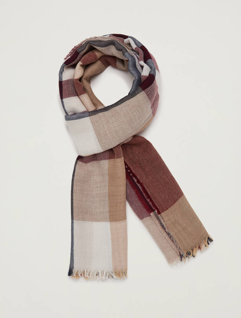 Checked scarf - red - pennyblack
