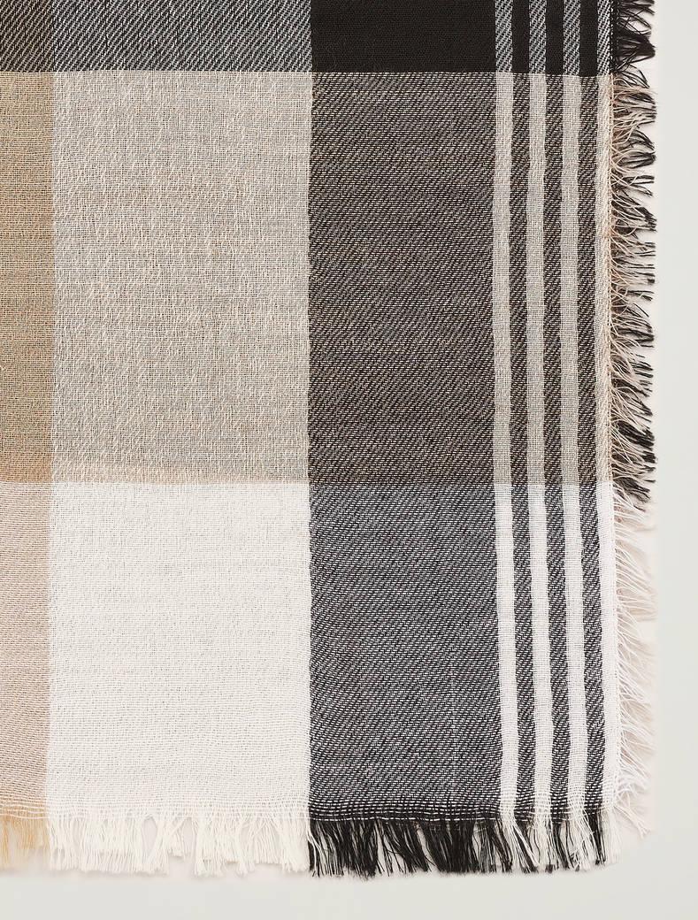 Checked scarf - black - pennyblack