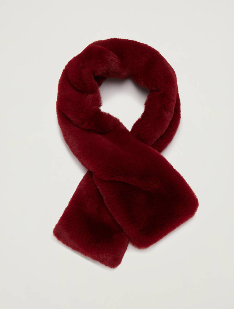 Plush collar with knit - red - pennyblack