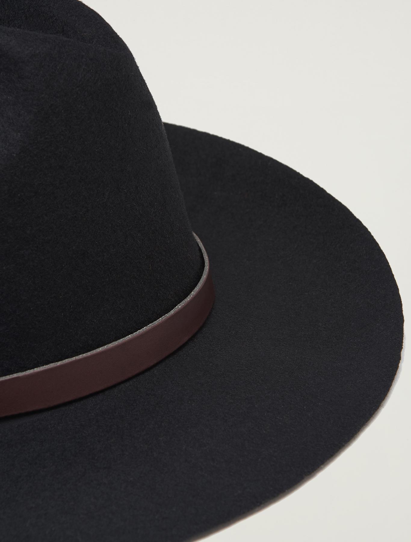 Felt gaucho hat - black - pennyblack