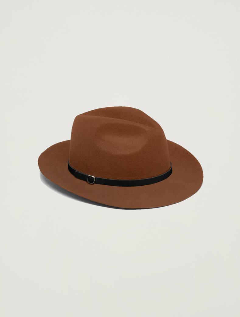 Cappello gaucho in feltro - cuoio - pennyblack