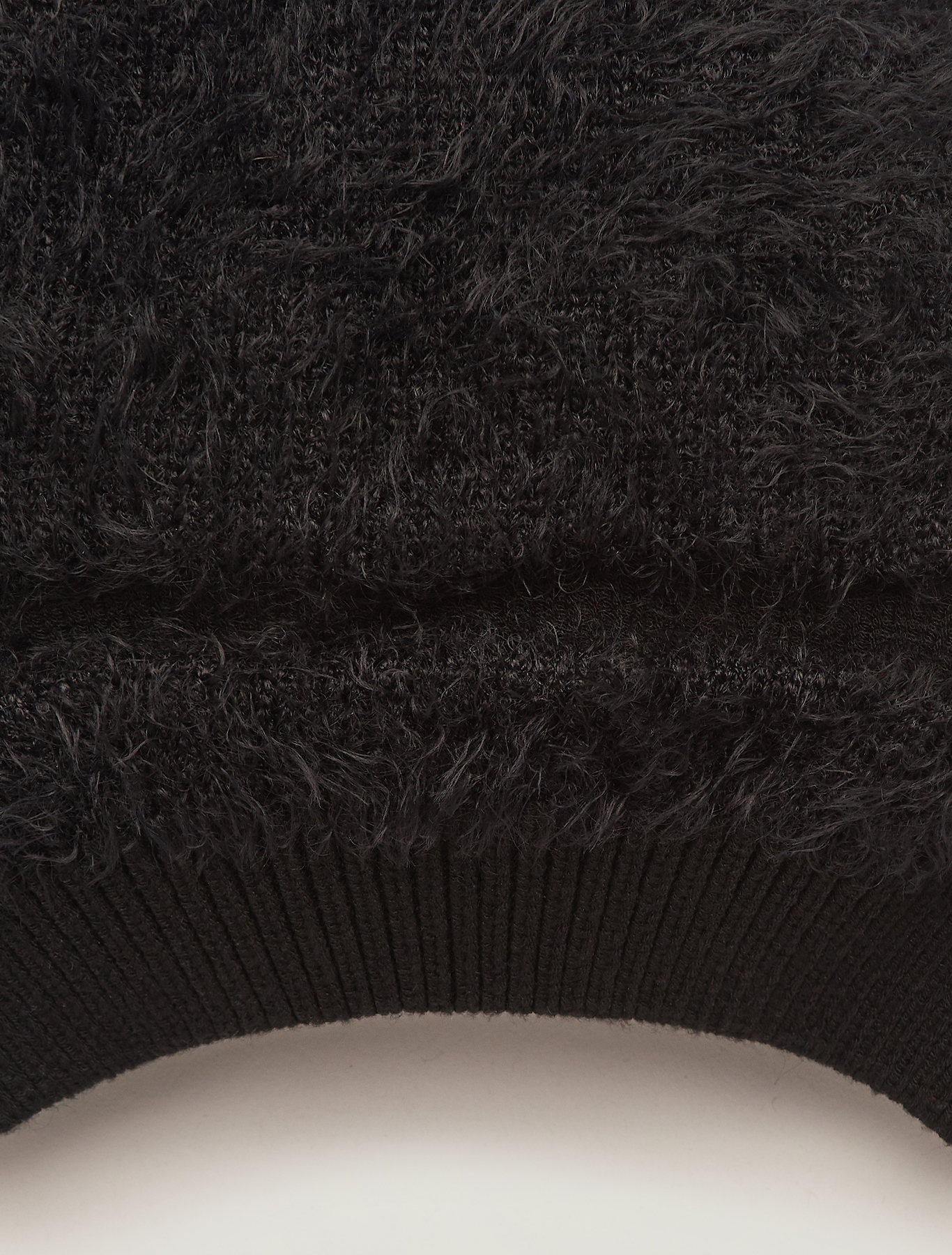 Plush knit beret - black - pennyblack