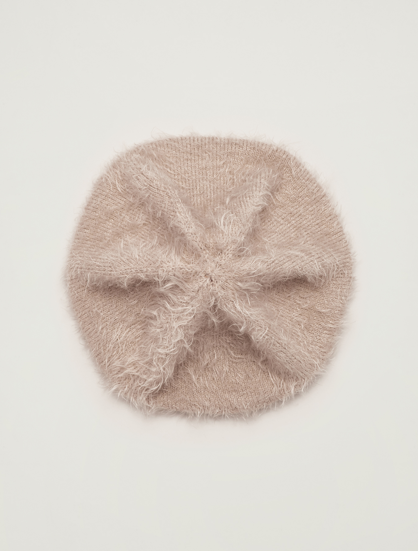 Plush knit beret - light grey - pennyblack