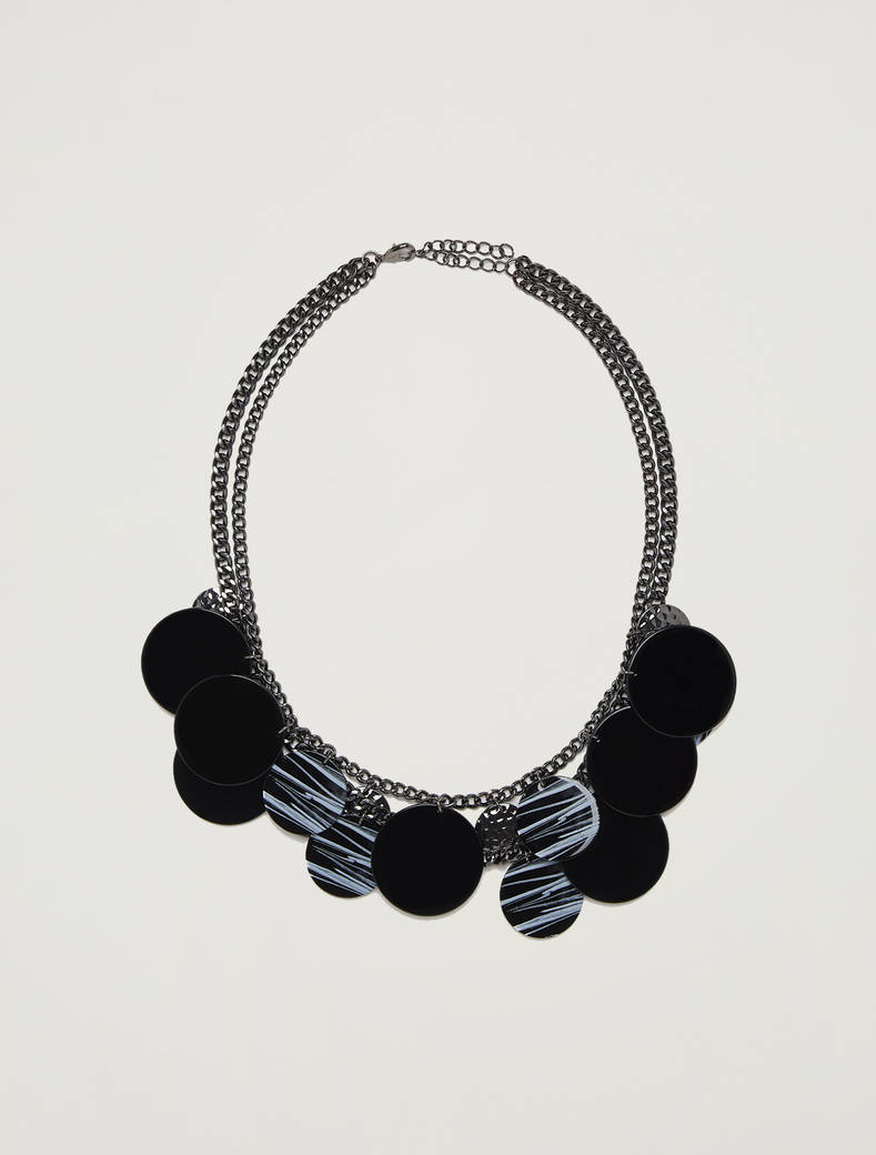 Necklace with circular elements - black - pennyblack