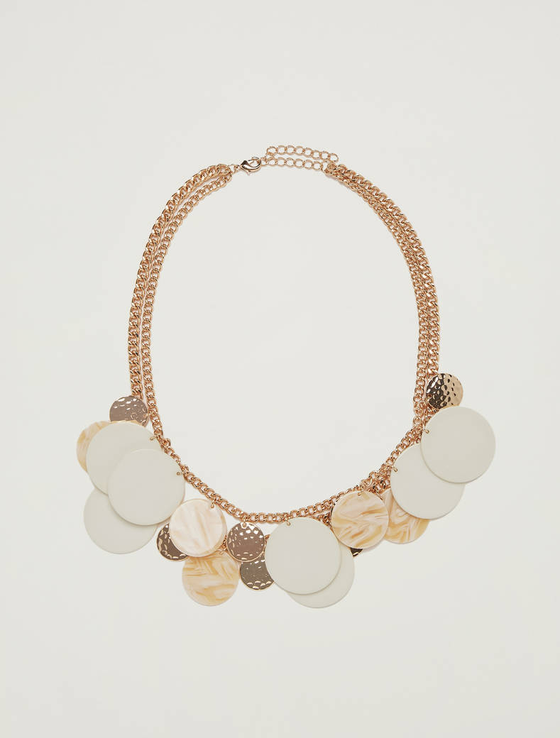 Necklace with circular elements - sunshine yellow - pennyblack