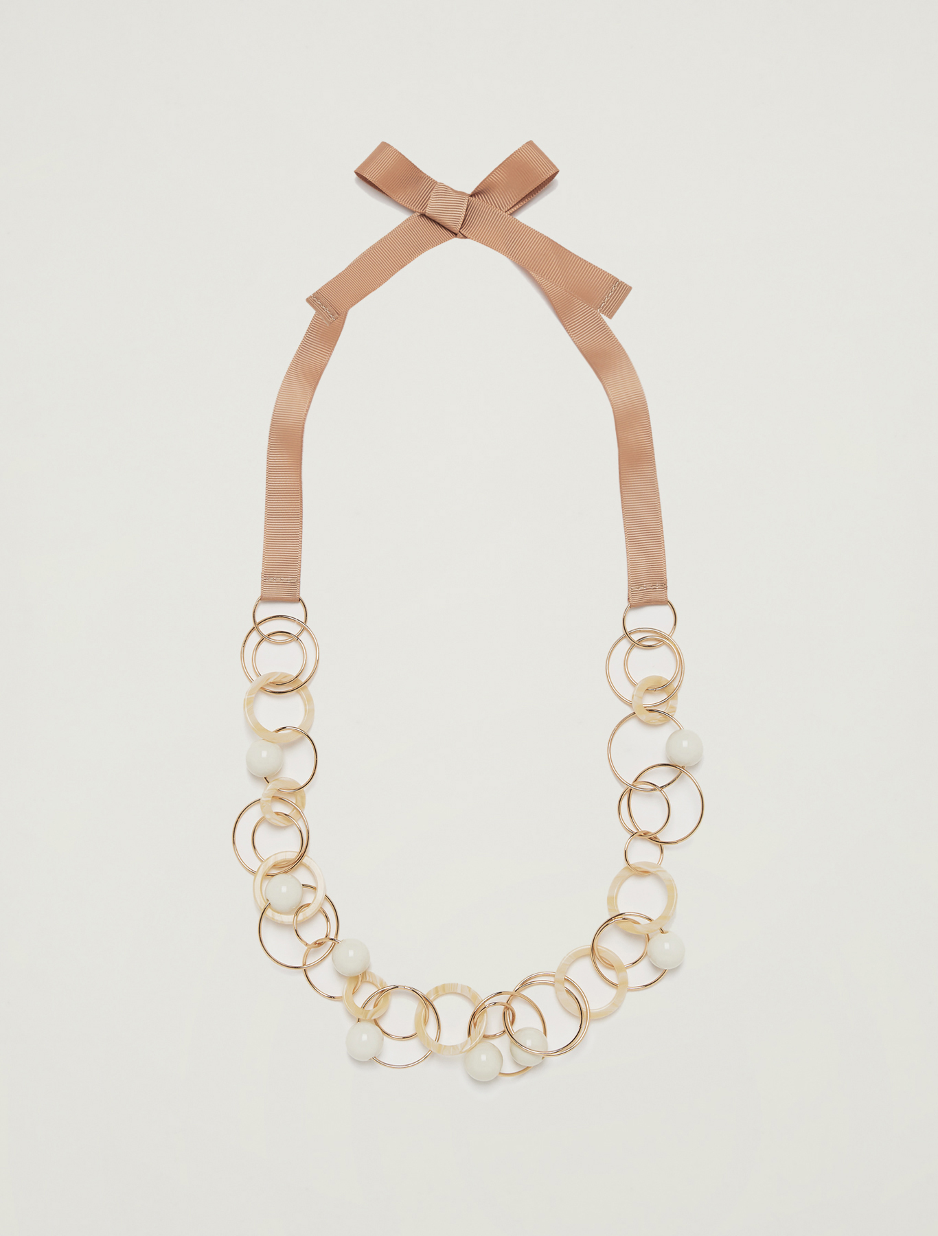 Necklace with rings and baubles - sunshine yellow - pennyblack