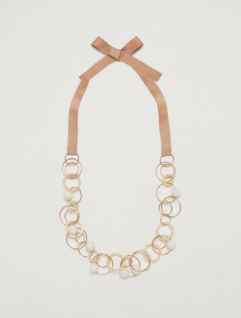 Collana con anelli e boules - giallo sole - pennyblack