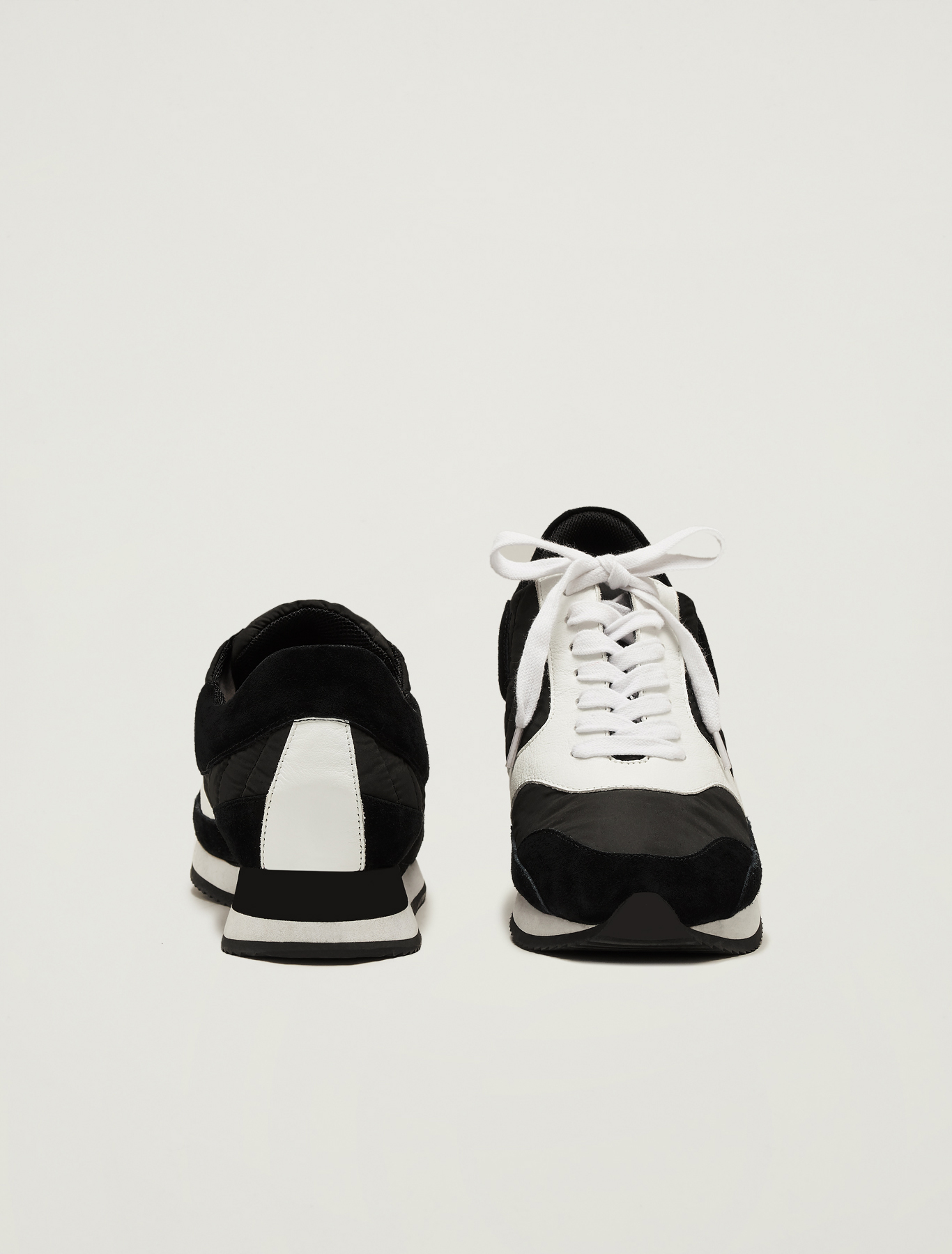 Sneakers in suede, leather and nylon - black - pennyblack