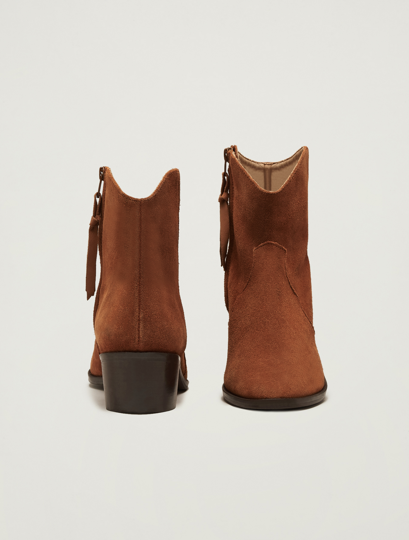 Suede gaucho ankle boots - tan - pennyblack