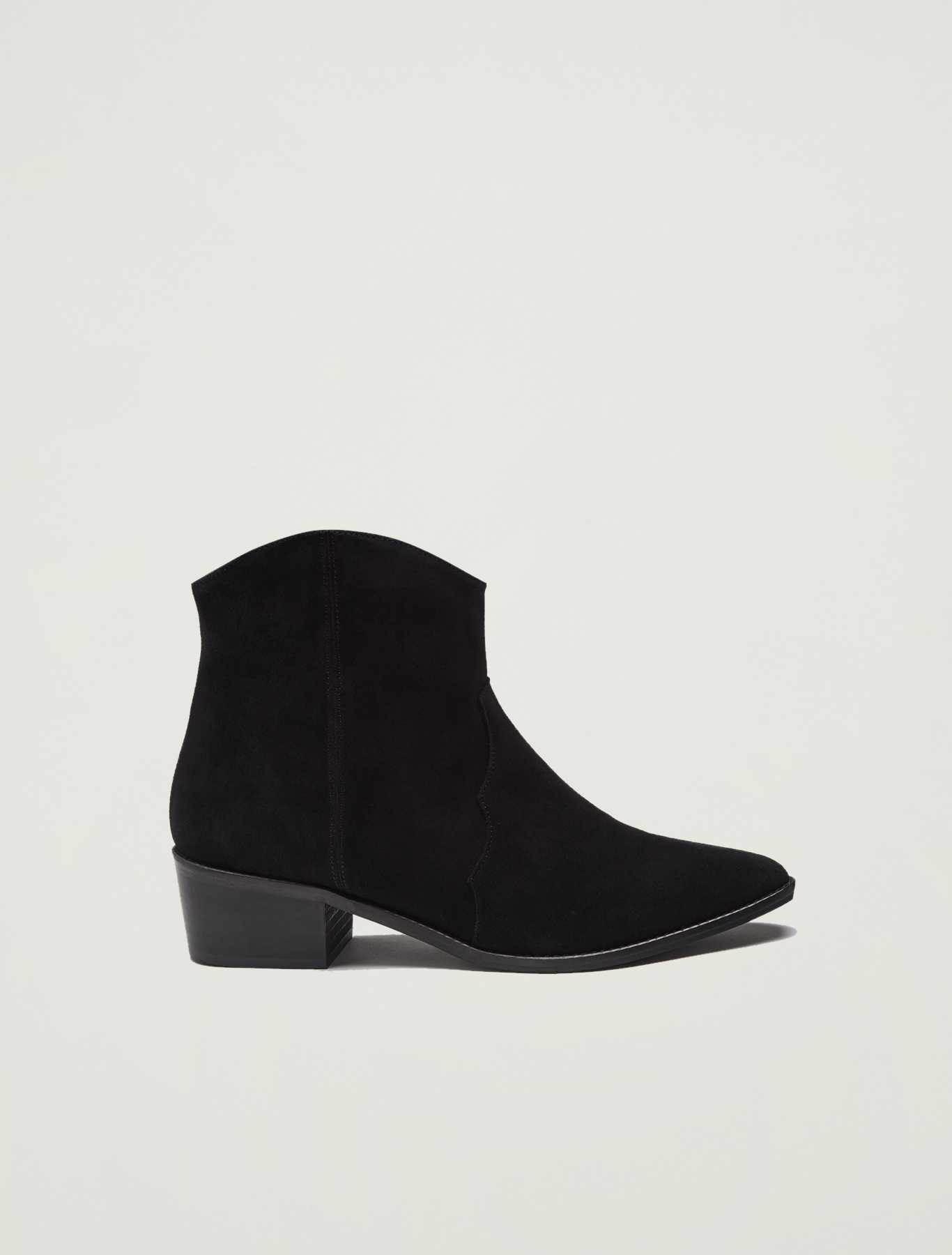 Suede gaucho ankle boots - black - pennyblack