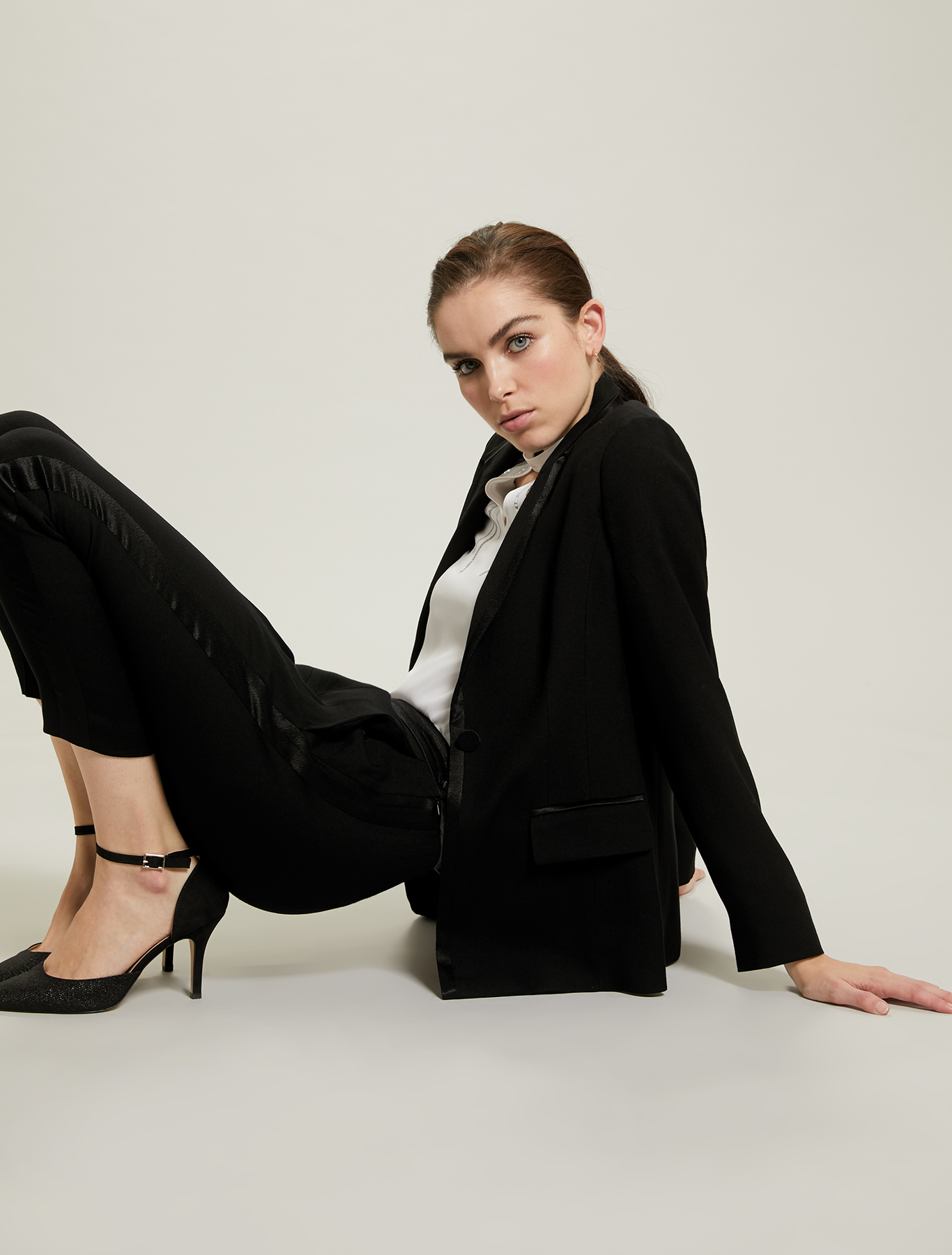 Blazer smoking in crêpe - nero - pennyblack