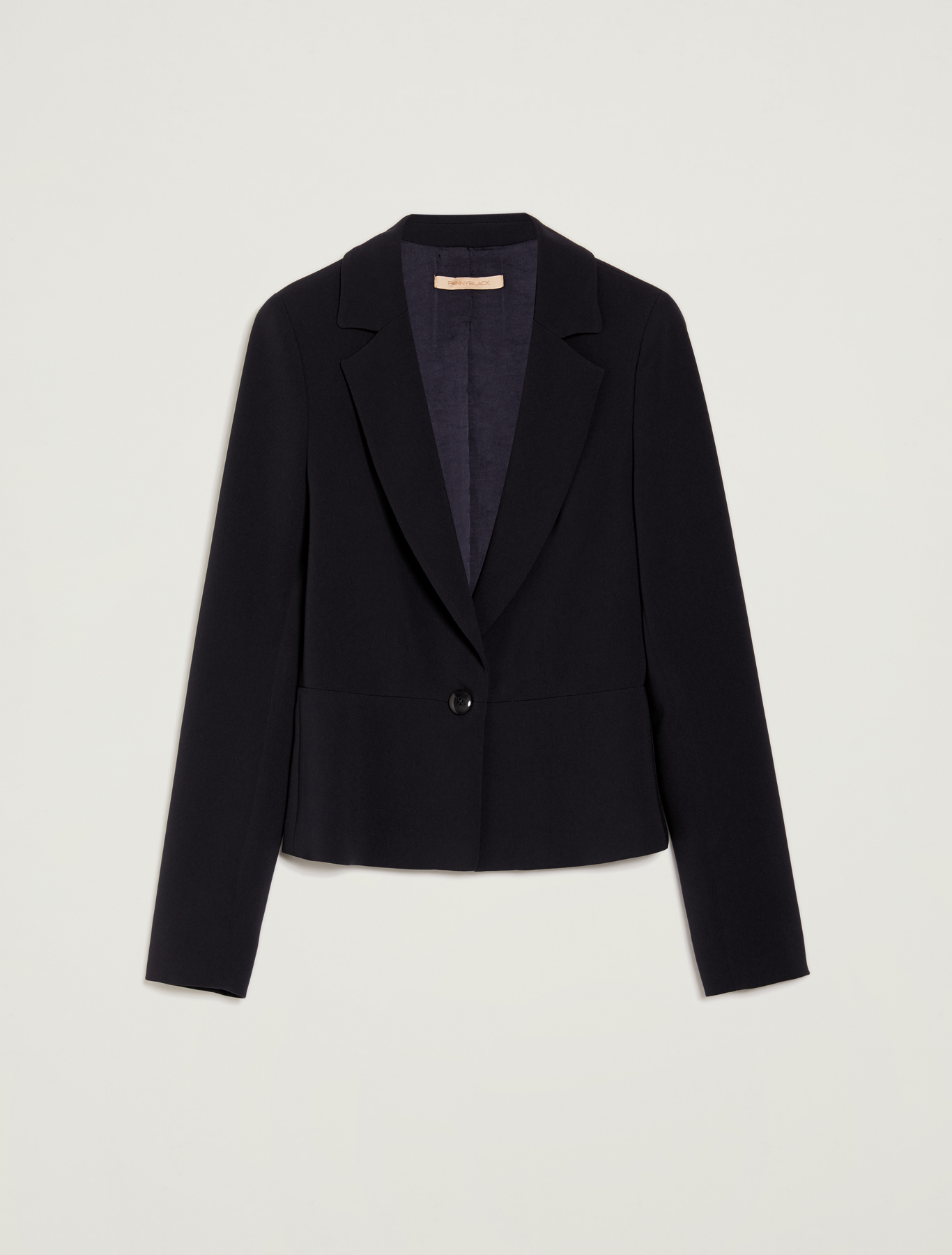 Flowing single-button blazer - navy blue - pennyblack