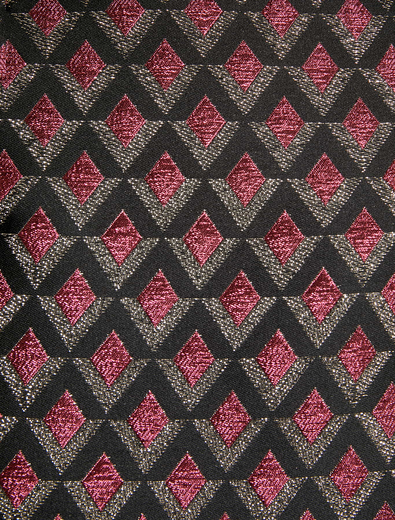 Gonna jacquard lamé - fantasia bordeaux - pennyblack
