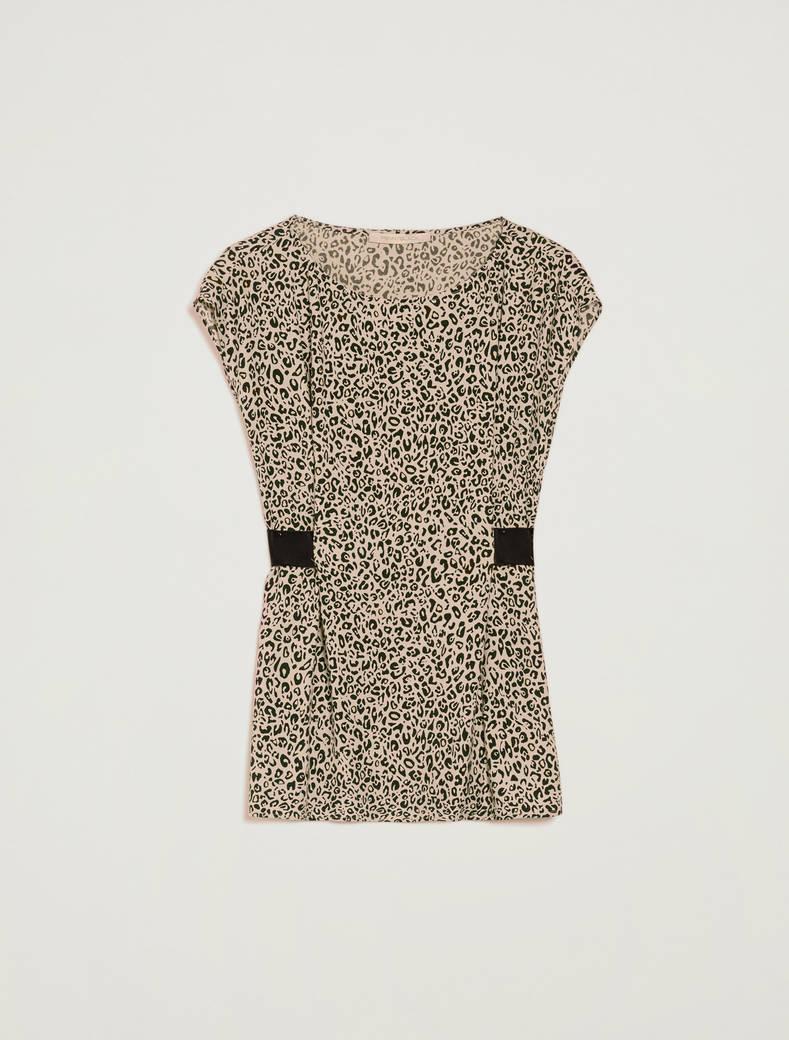 Leopard-print sablé top - sand pattern - pennyblack