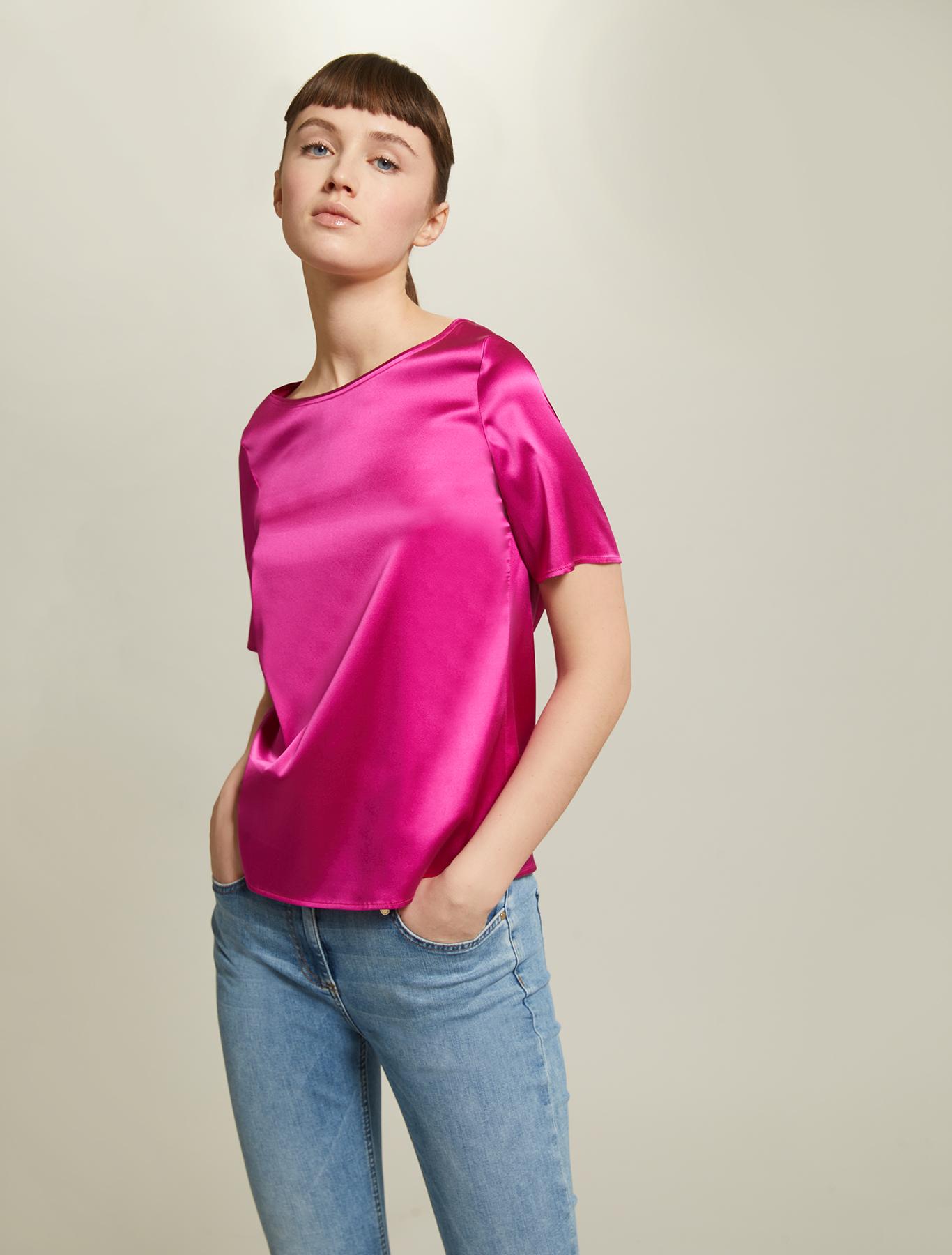Silk satin blouse - fuchsia - pennyblack
