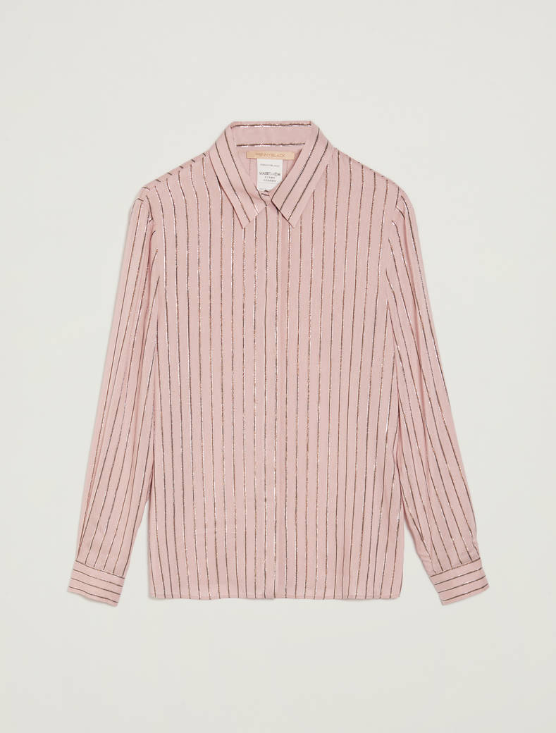Lamé striped shirt - rose pink pattern - pennyblack