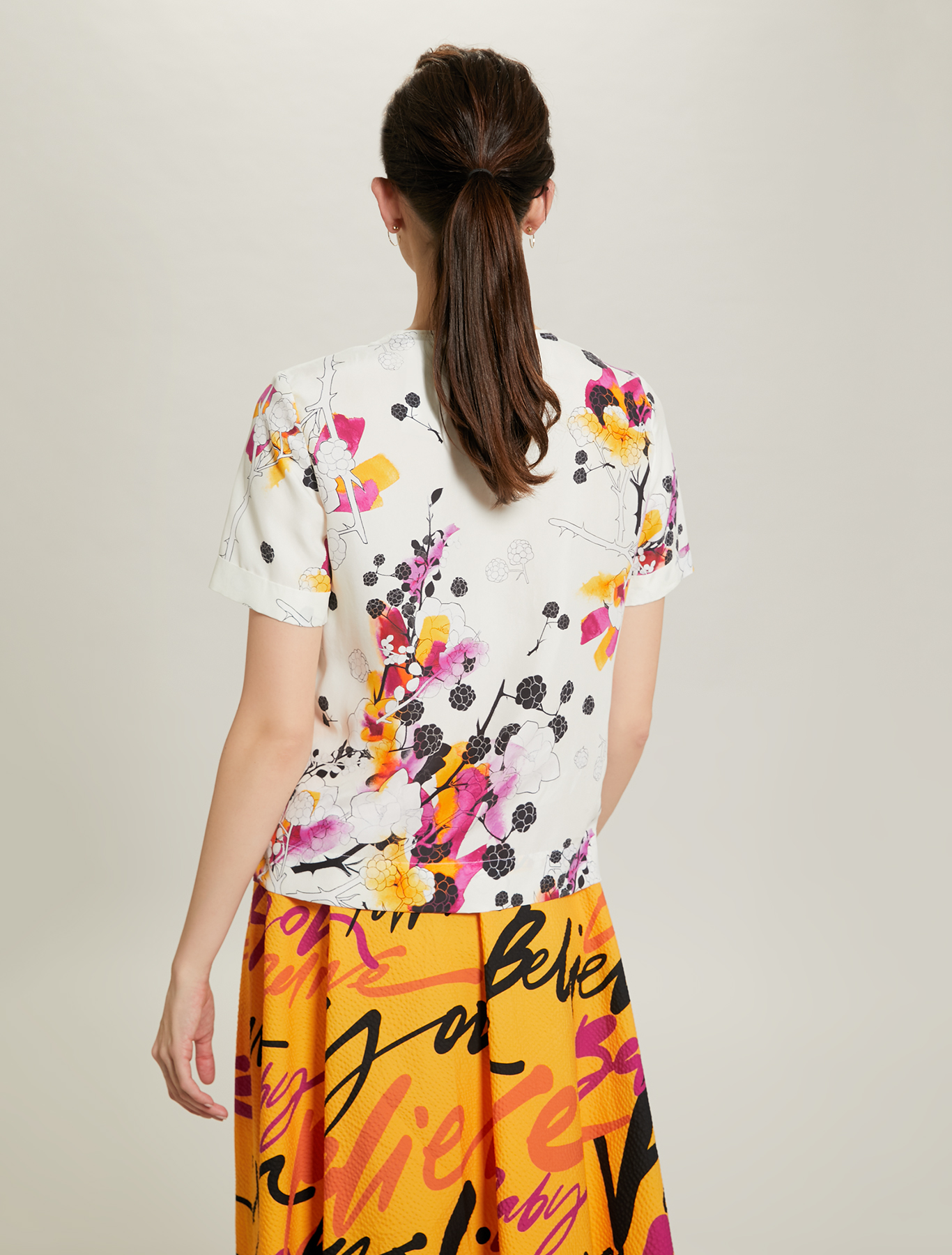 Sunset Road silk blouse - white pattern - pennyblack