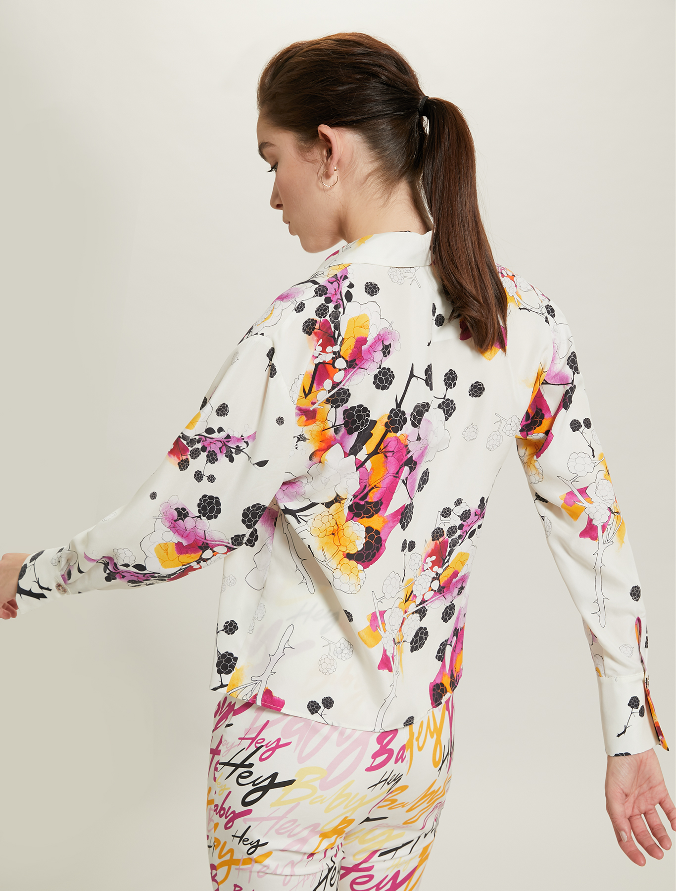 Camicia in seta Sunset Road - fantasia bianco - pennyblack