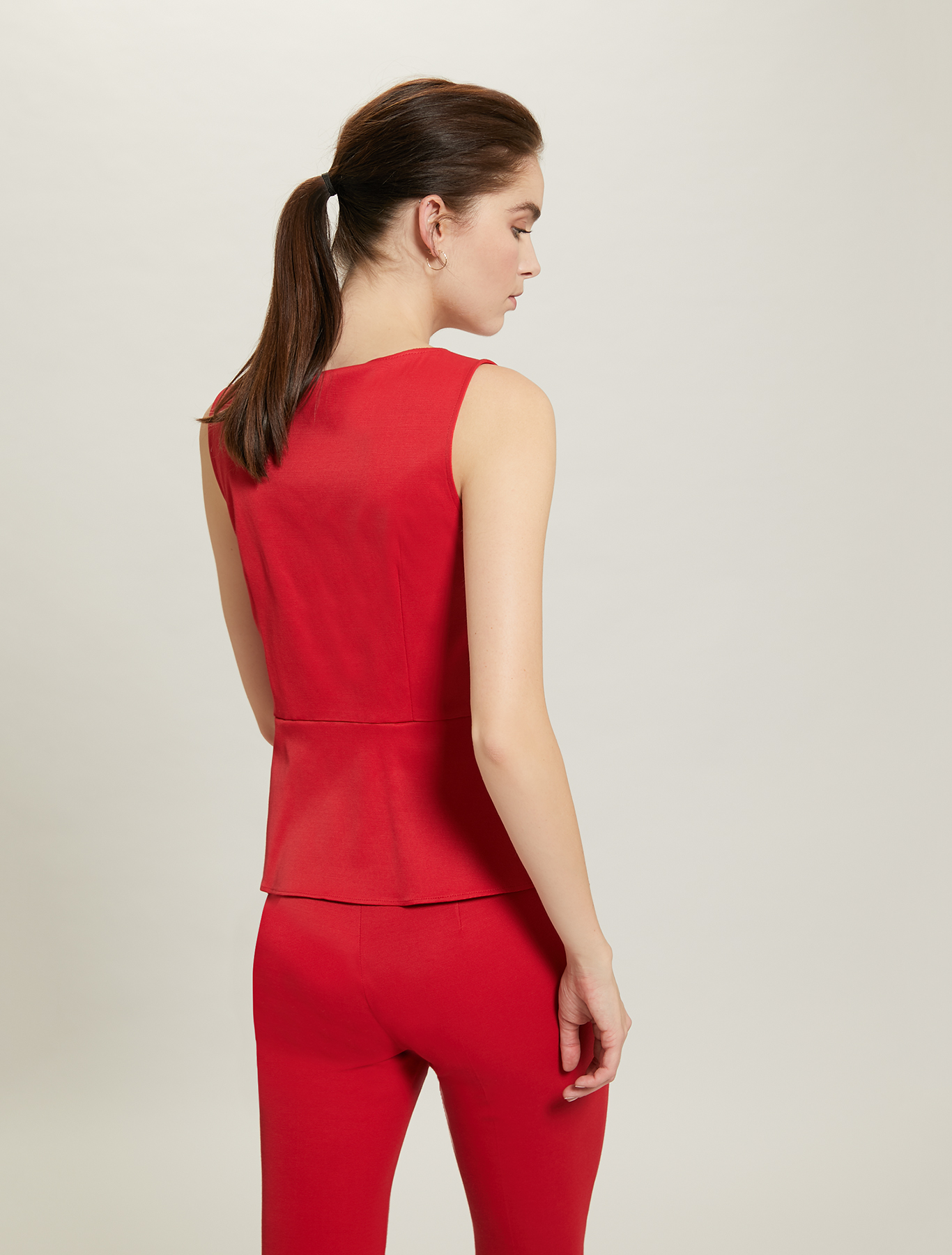 Slim top in faille - red - pennyblack