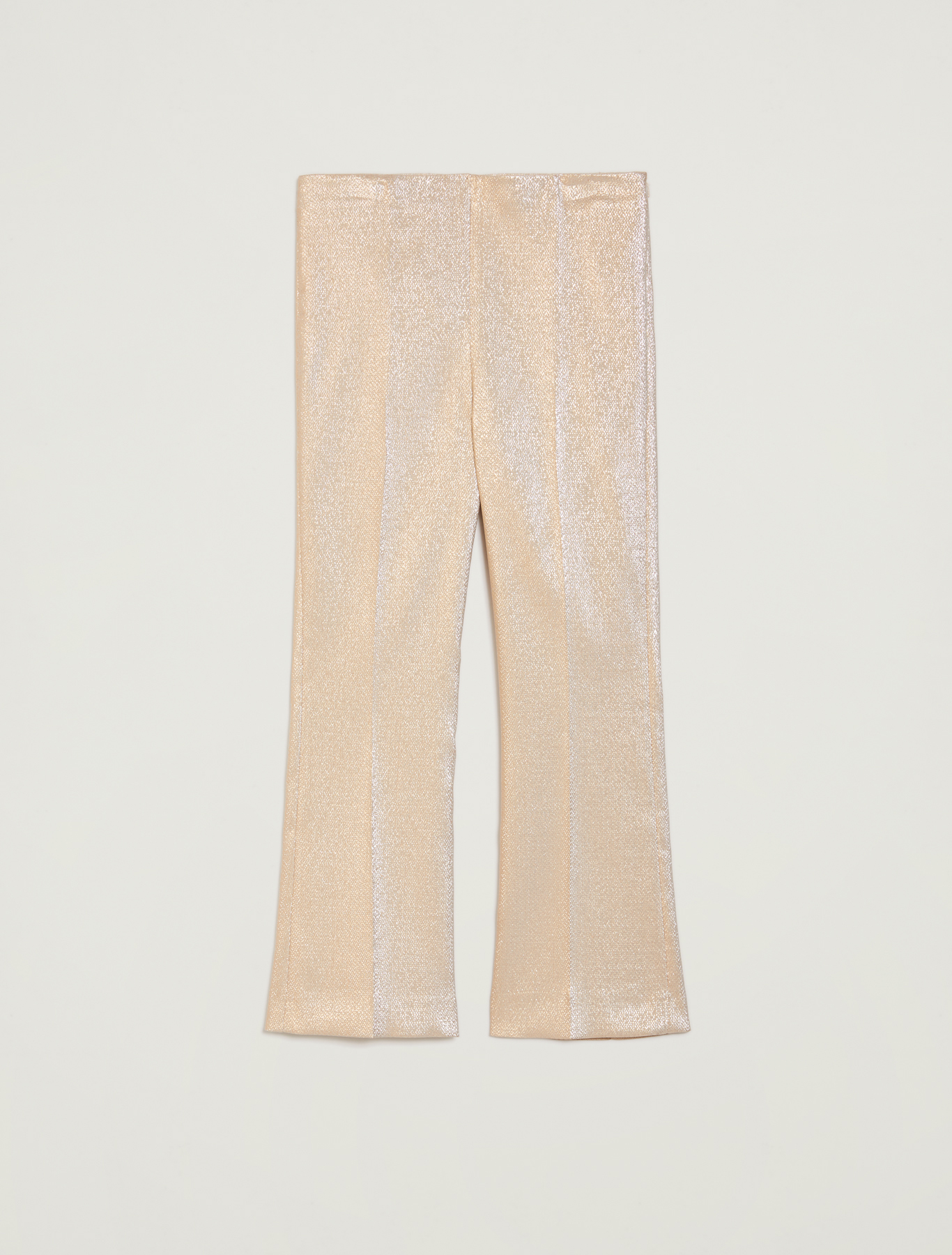 Lamé kick-flare trousers - gold pattern - pennyblack