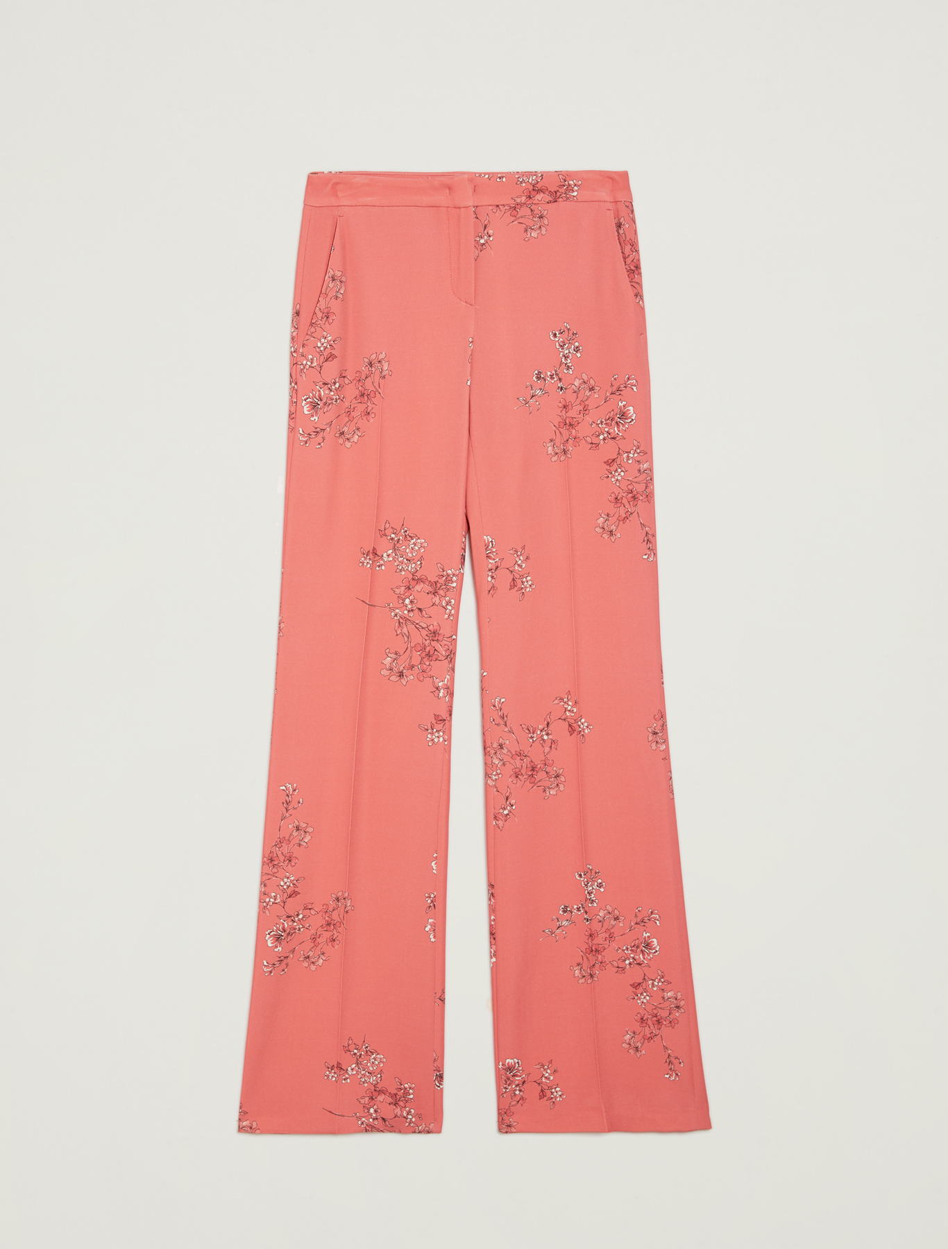 Floral cady trousers - old rose pattern - pennyblack