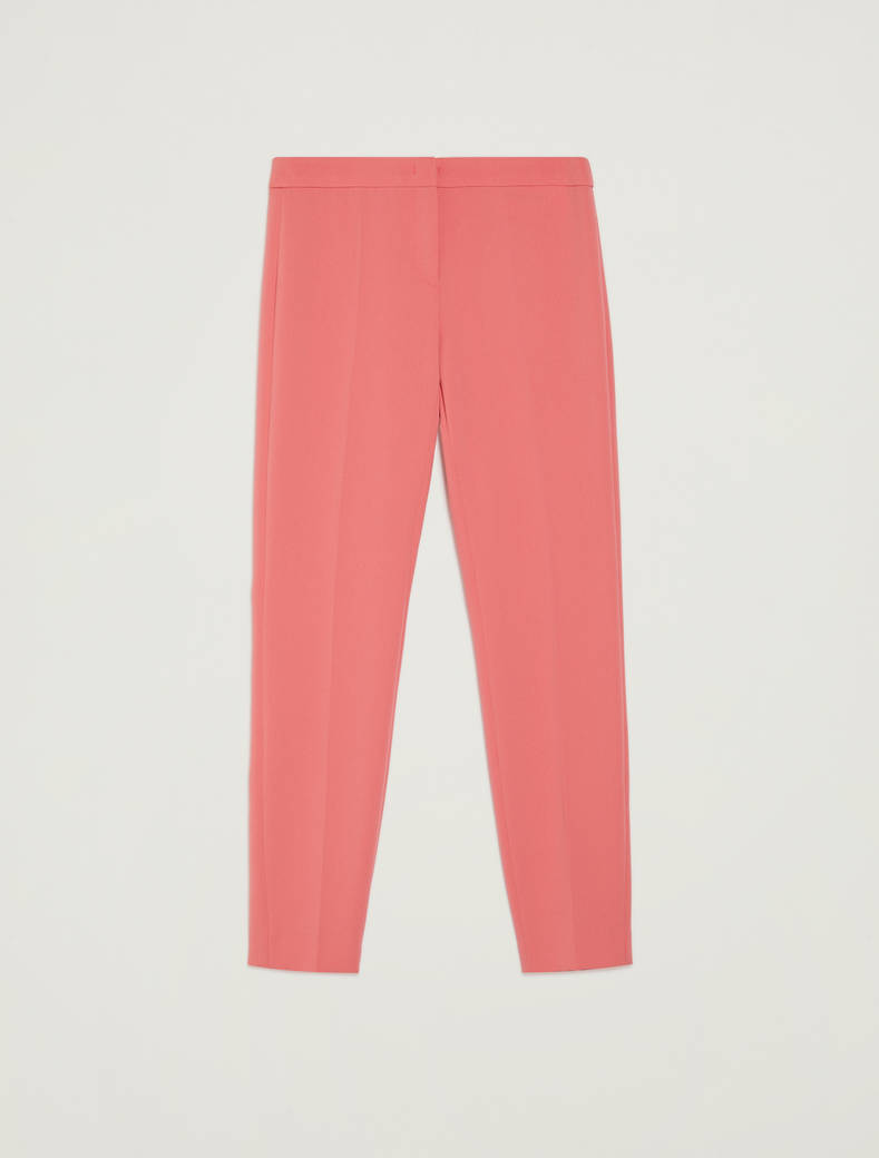Flowing, slim-fit trousers - old rose - pennyblack