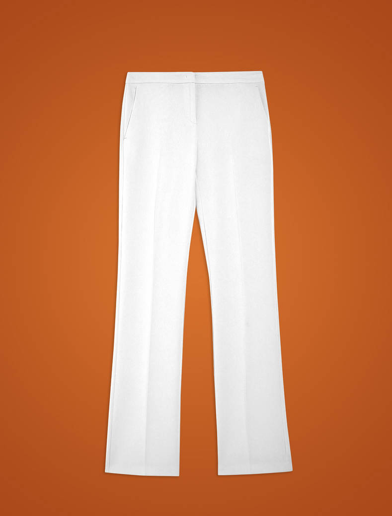 Straight fit, fuller trousers - ivory - pennyblack